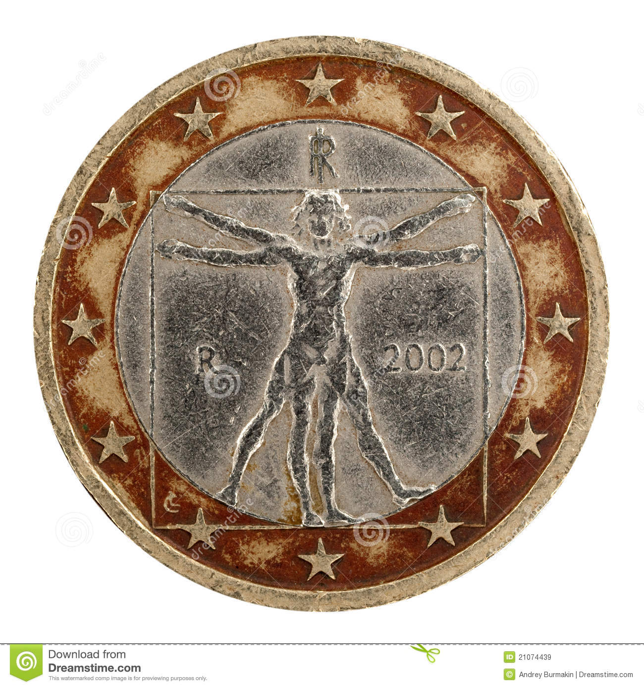 Euro Coin Royalty Free Stock Images