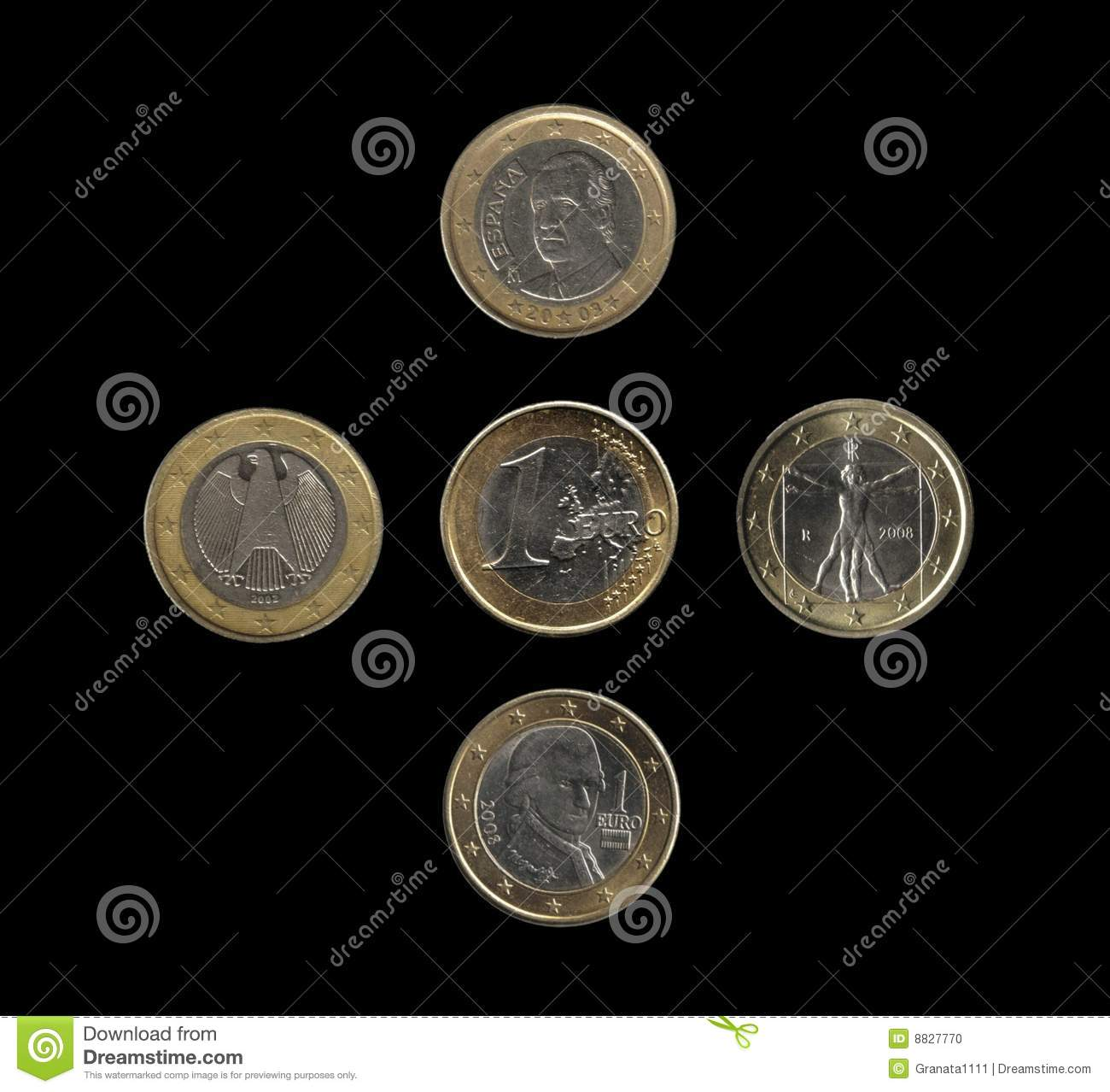 Euro coins, 4 nations