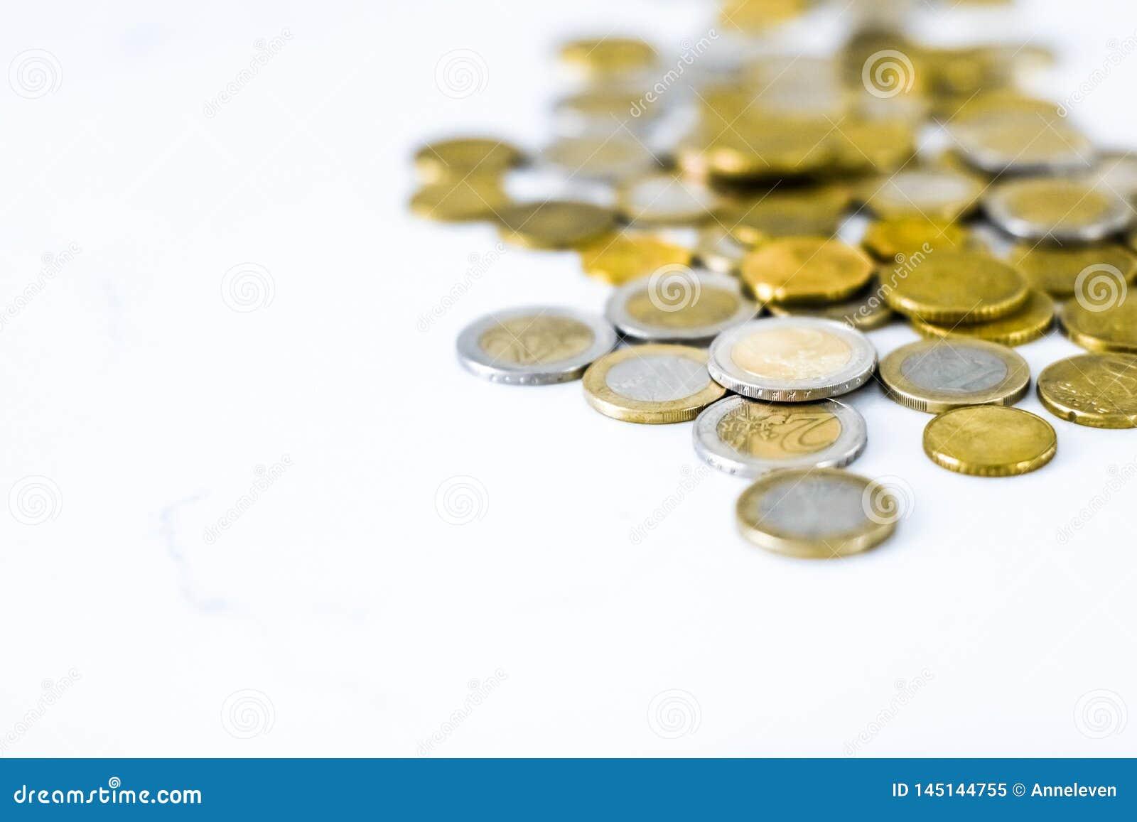 Euro coins, European Union currency