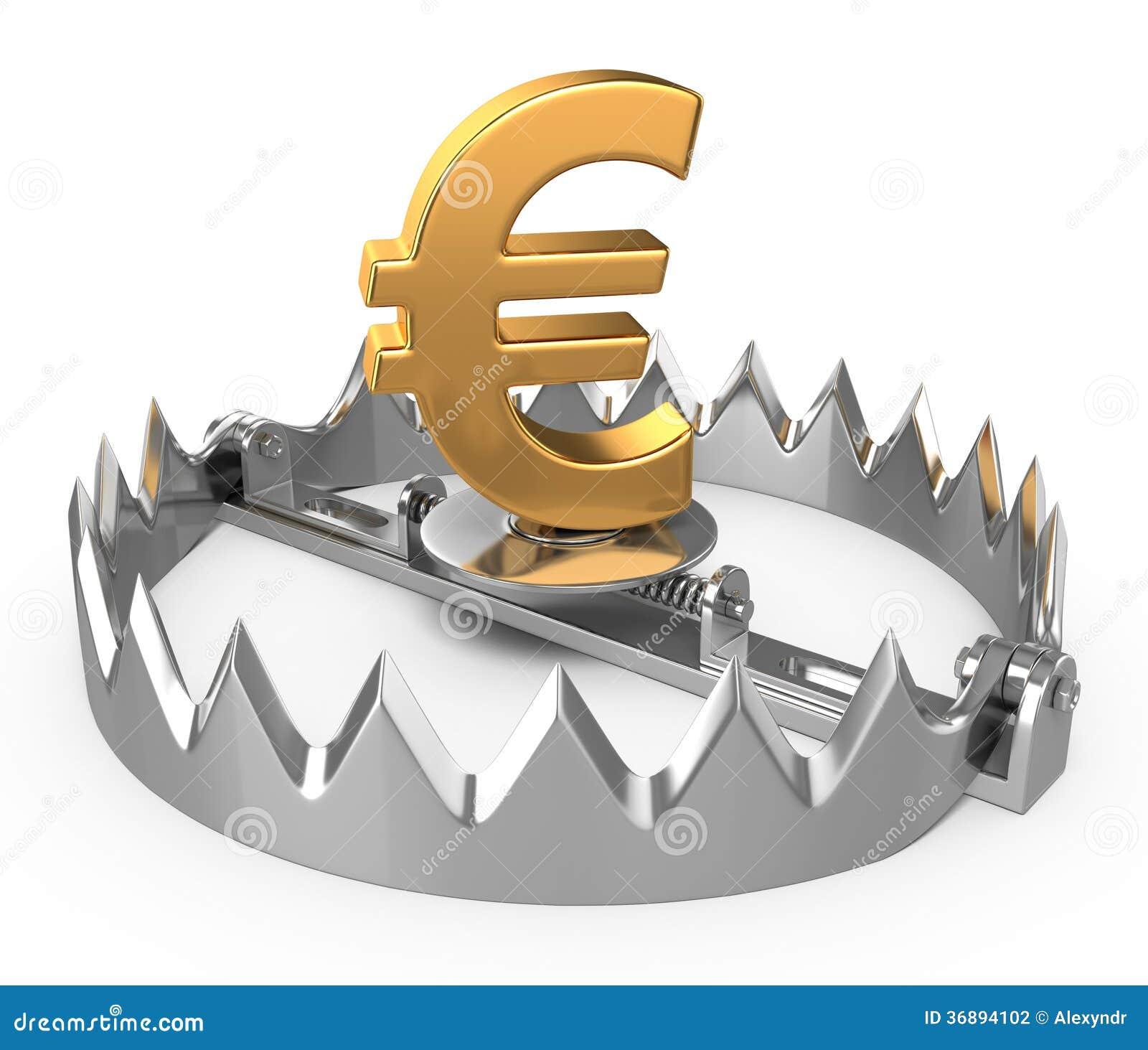 Download Euro concetto di crisi illustrazione di stock. Illustrazione di depressione - 36894102