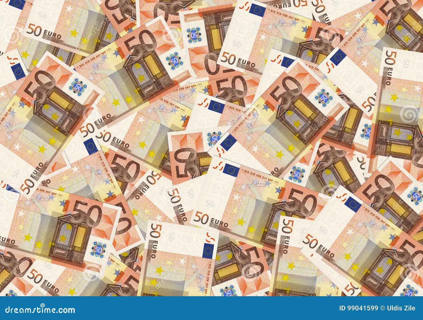 50 euro contant geldgeld als achtergrond De rijke economie van het conceptensucces