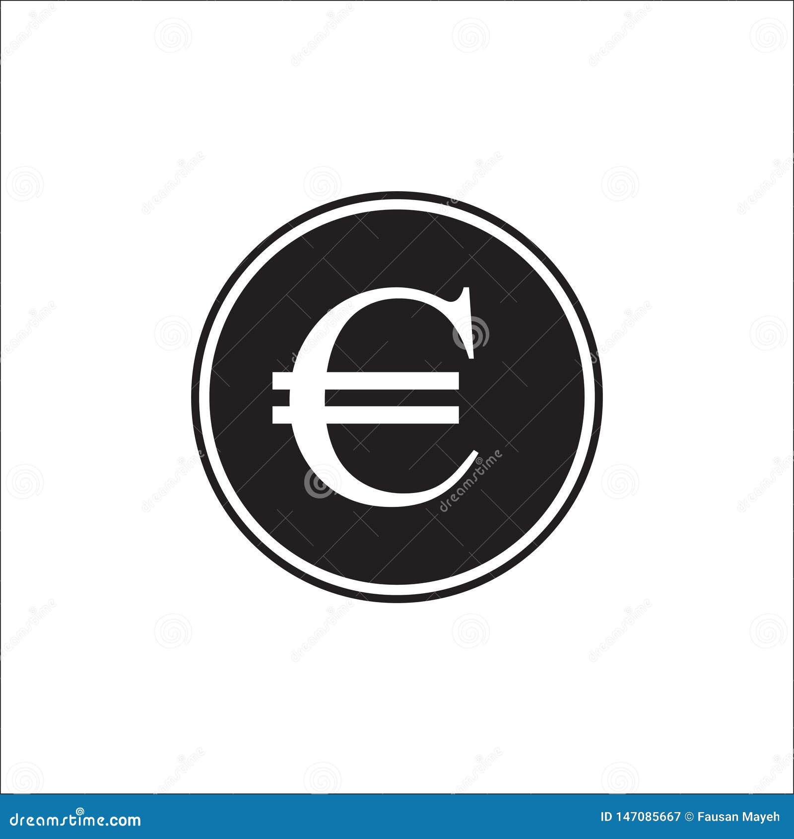 Euro curency, euro icona nello stile piano d avanguardia isolata su fondo grigio Euro simbolo per la vostra progettazione del sit