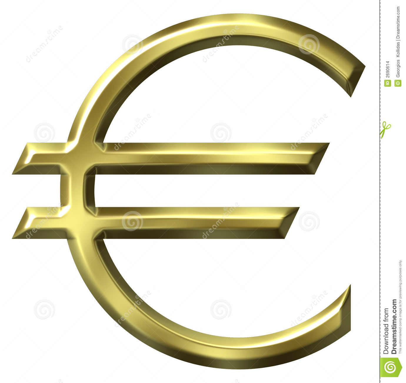Euro Currency Symbol Stock Illustration Illustration Of Concept