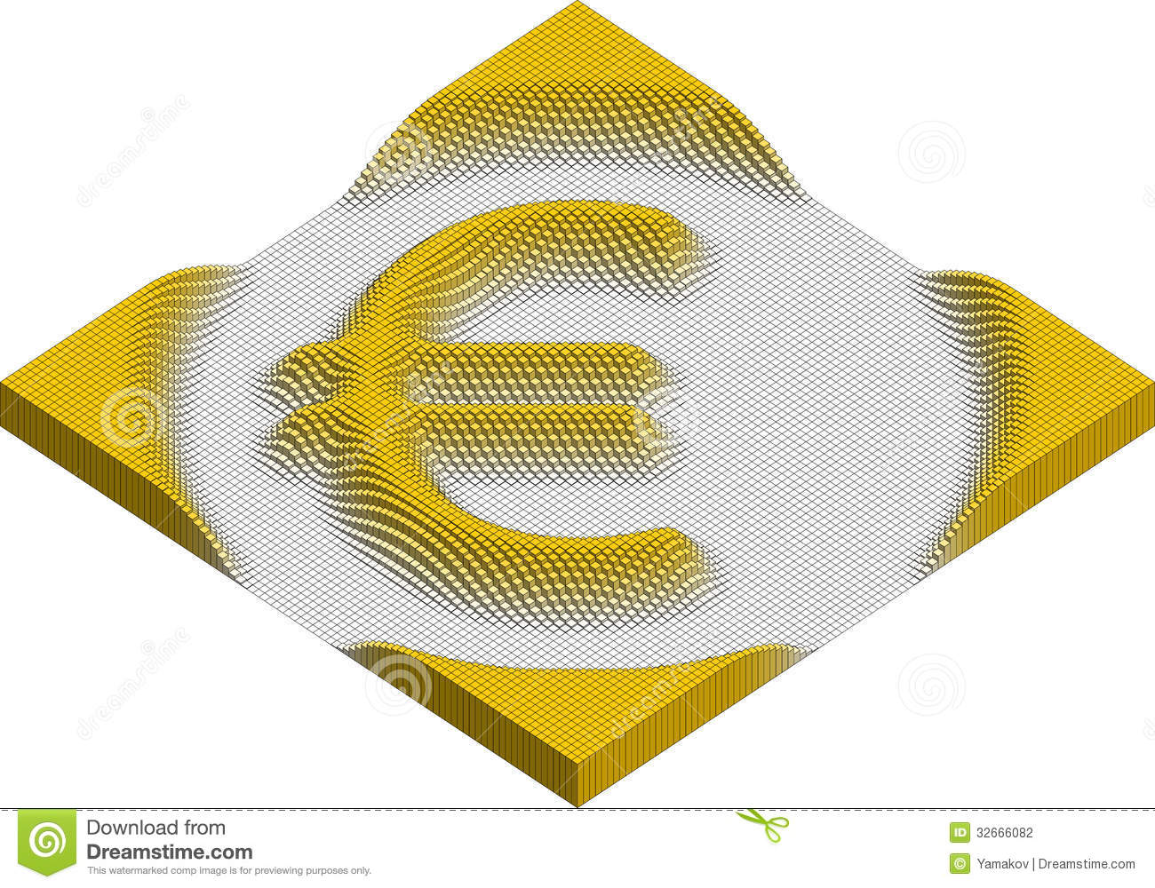 Euro currency symbol made of cubes stock vector illustration of euro currency symbol made of cubes biocorpaavc Images