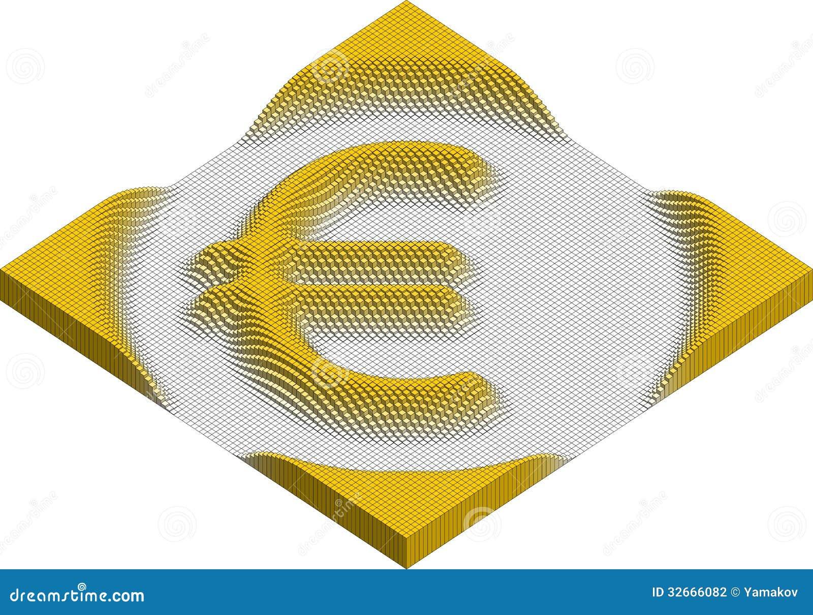 Euro currency symbol made of cubes stock vector illustration of euro currency symbol made of cubes buycottarizona Choice Image