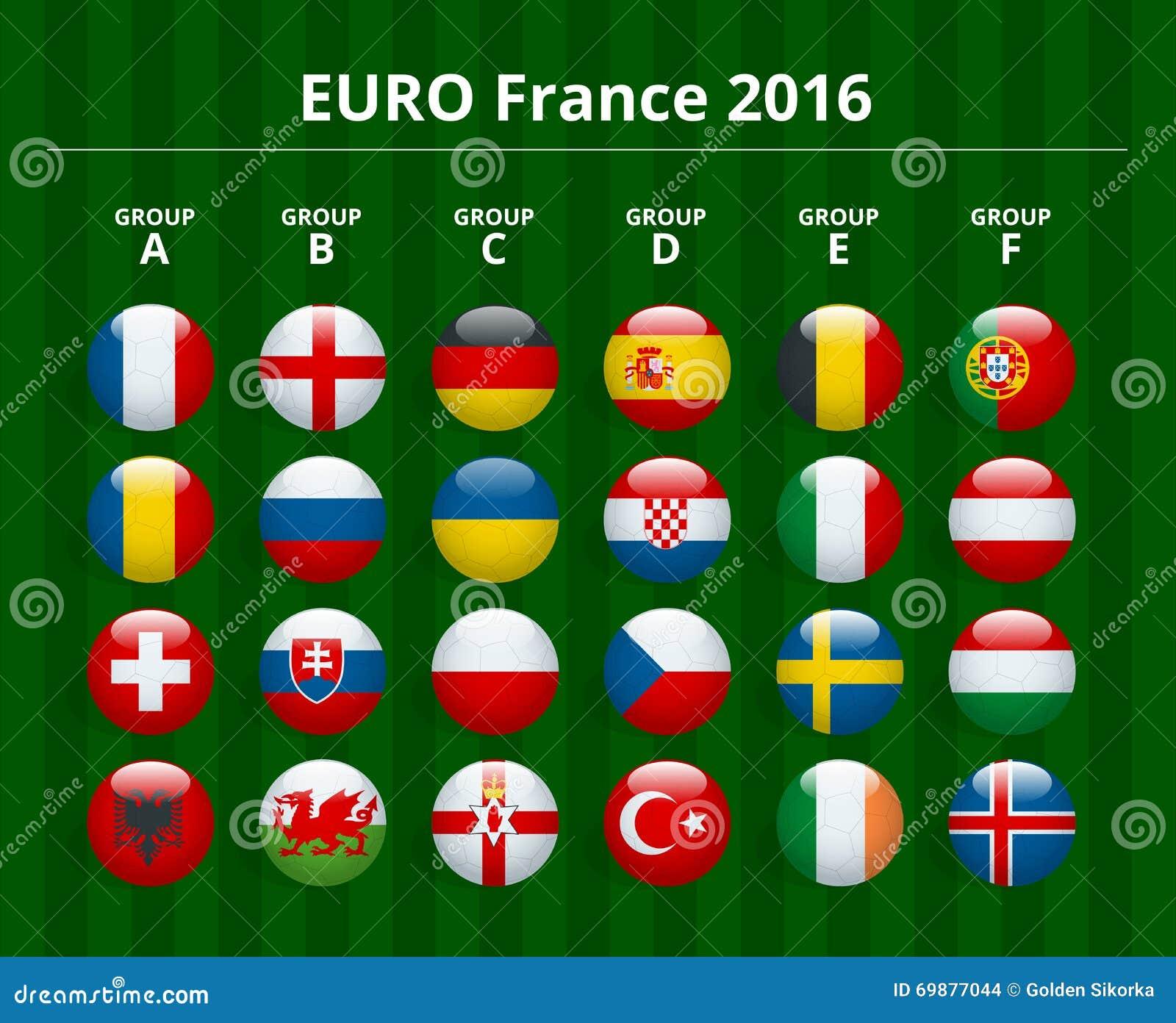 Célèbre Euro 2016 Dans Les Frances Drapeaux Des Pays Européens Participant  WU42