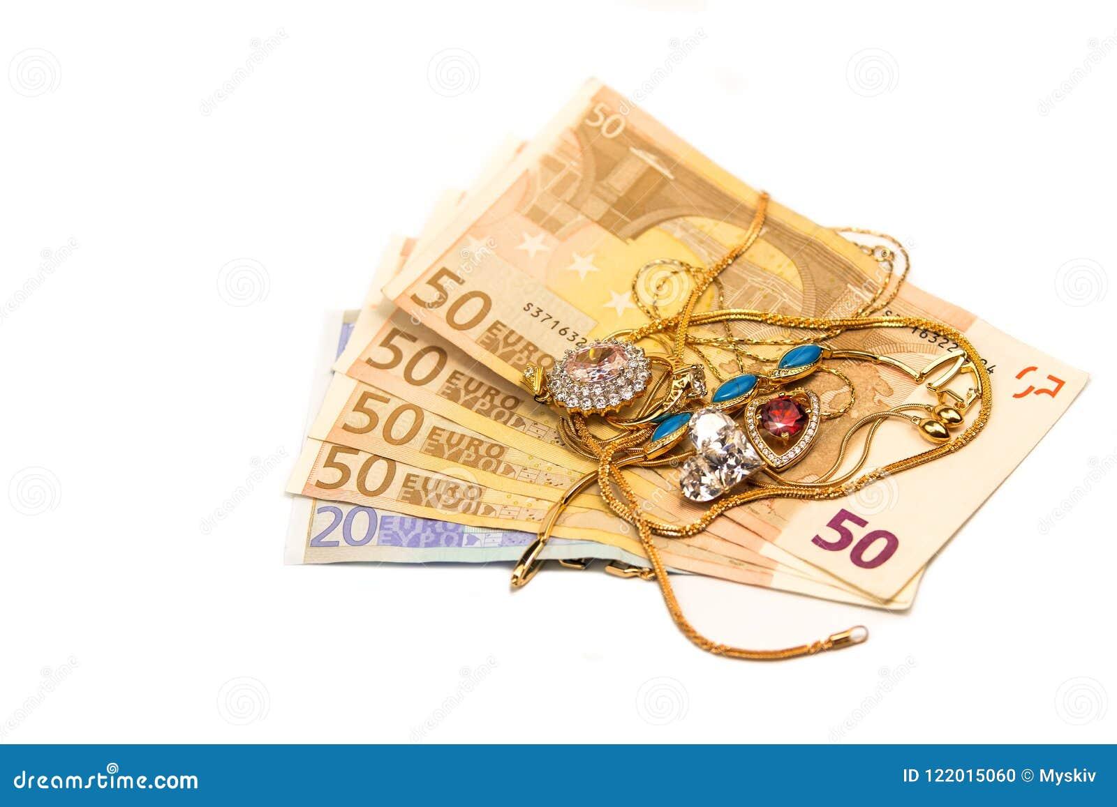 Euro del efectivo para el oro