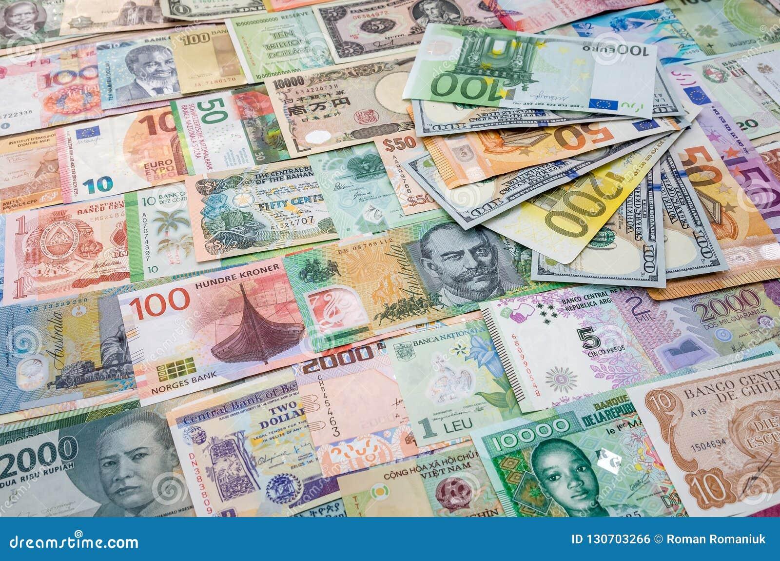 Euro And Dollar Banknotes On World Money Stock Photo - Image