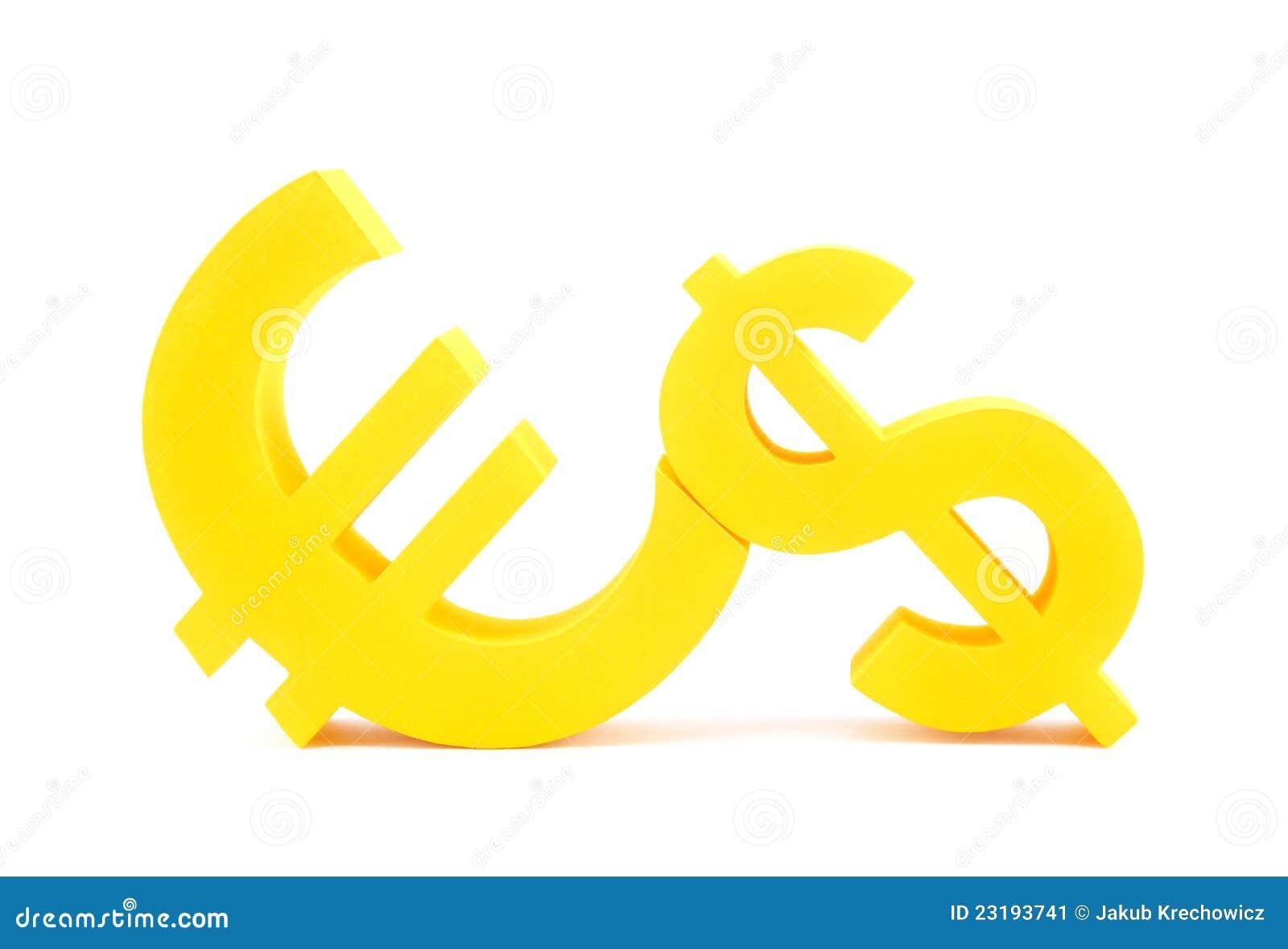 Euro with dollar symbols stock image image of money 23193741 euro with dollar symbols money currency buycottarizona Choice Image