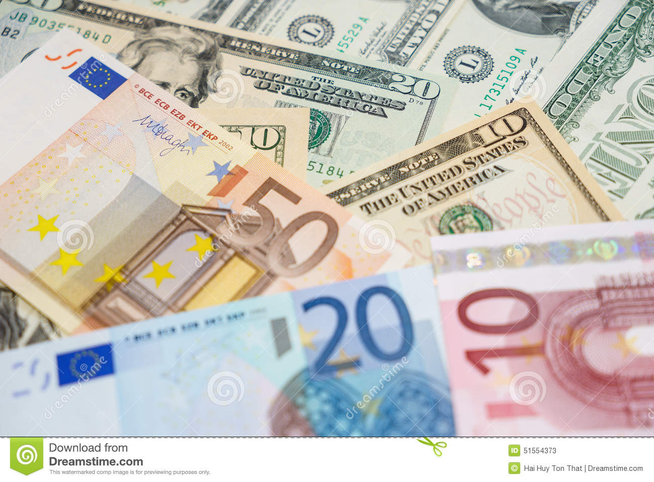 euro and dollars stock image image of euro earn dough 51554373. Black Bedroom Furniture Sets. Home Design Ideas