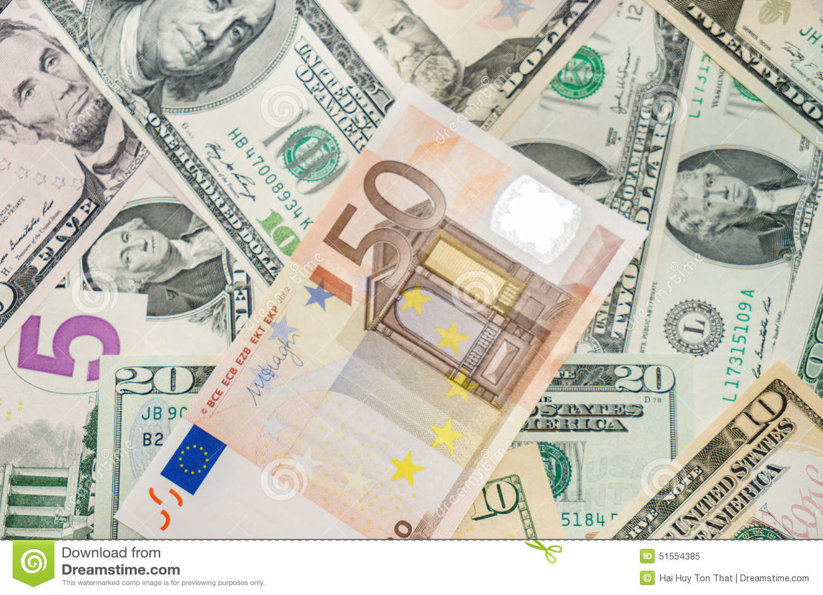 Euro e dólares