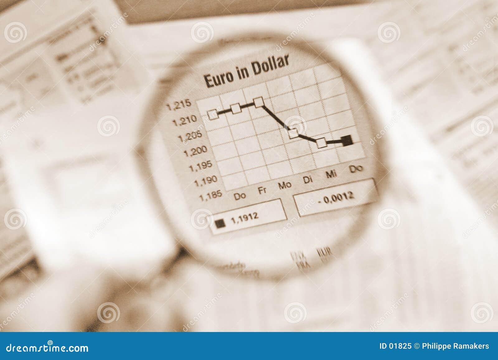 Euro en le dollar