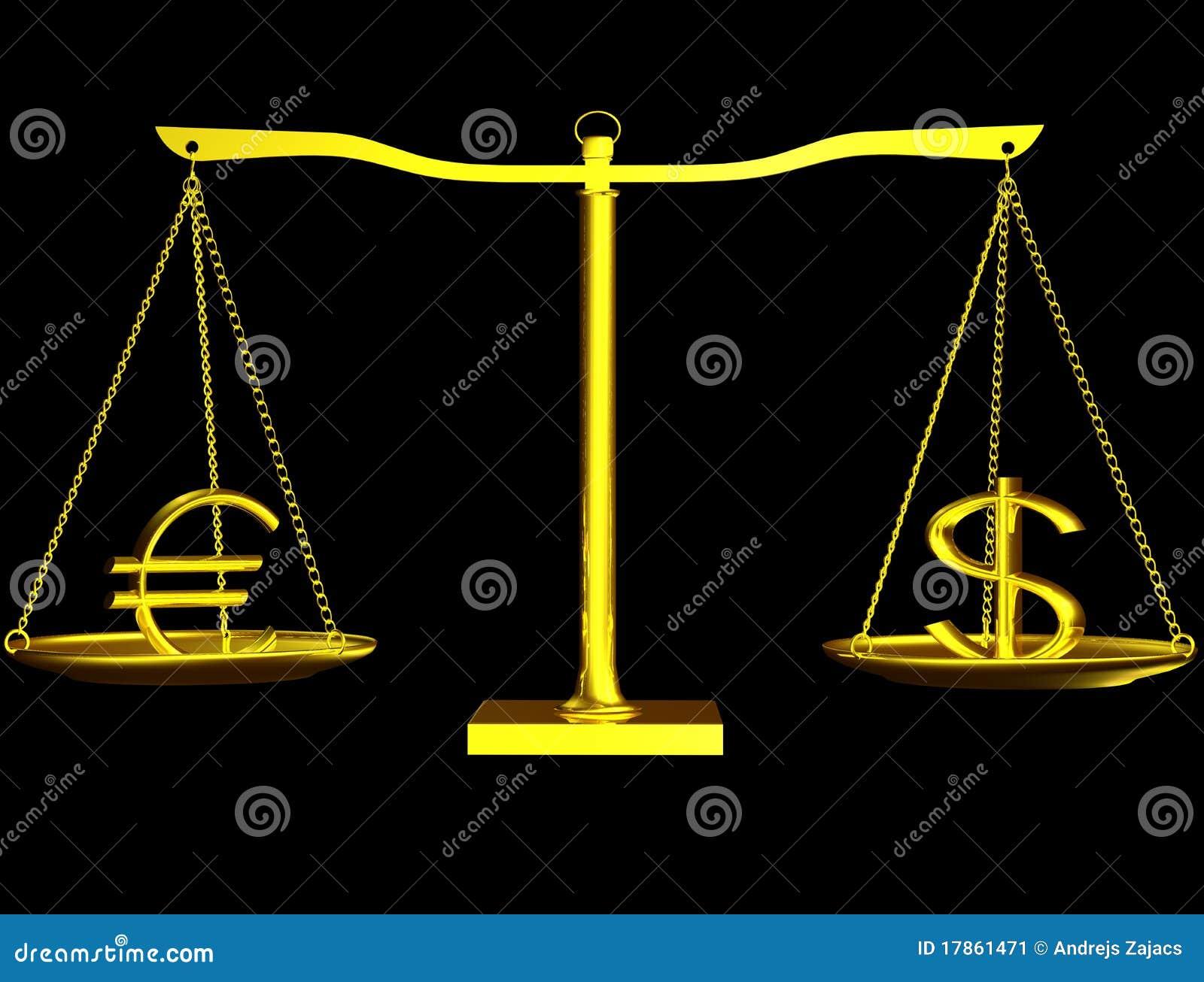 Euro et dollar tout bien pesé