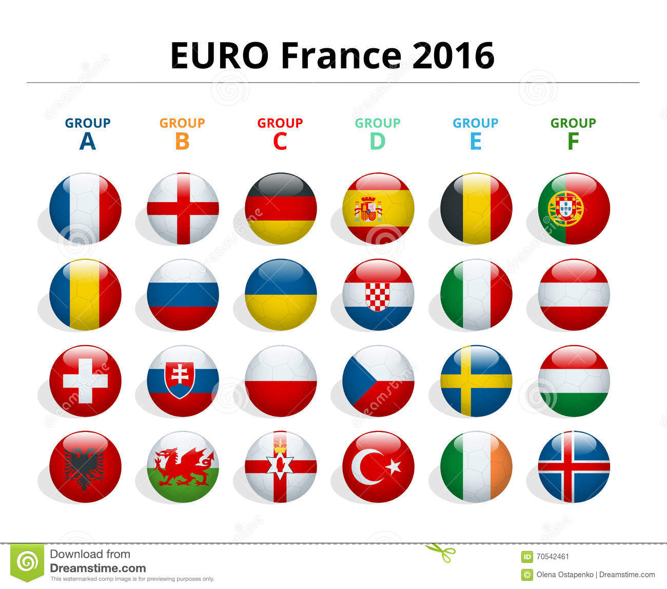 euro 2016 in france flags of european countries participating to the final tournament of euro. Black Bedroom Furniture Sets. Home Design Ideas