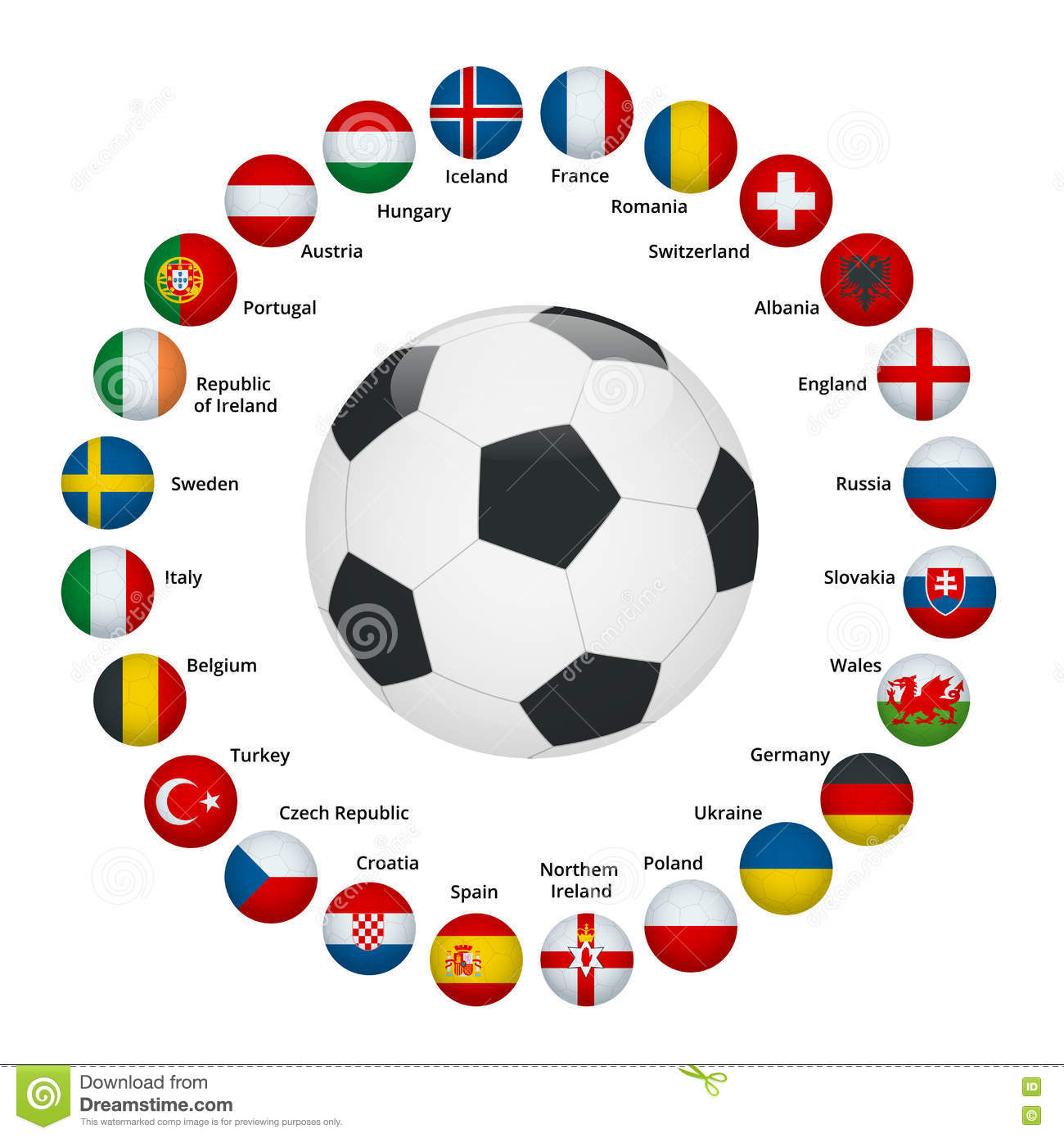 France Football 2016. Soccer Ball With French Flag Colors ...