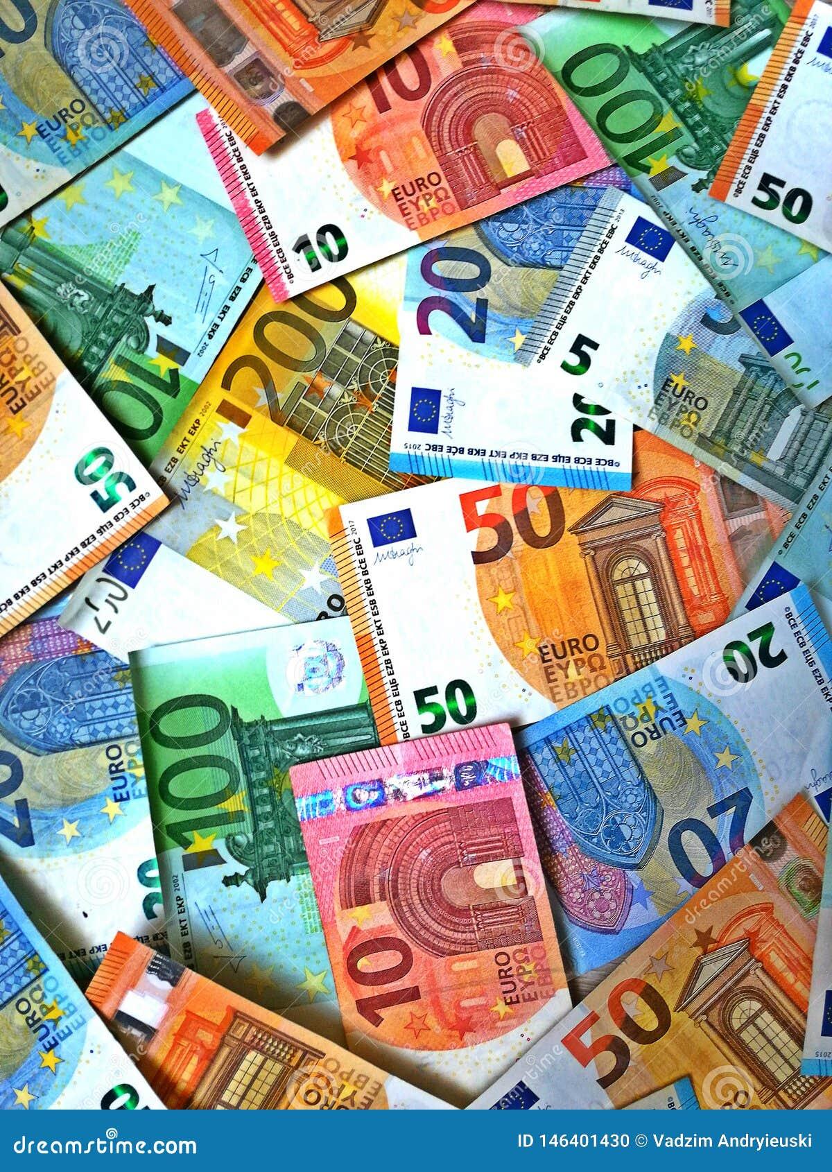 Euro geld euro contant geldachtergrond Euro geldbankbiljetten