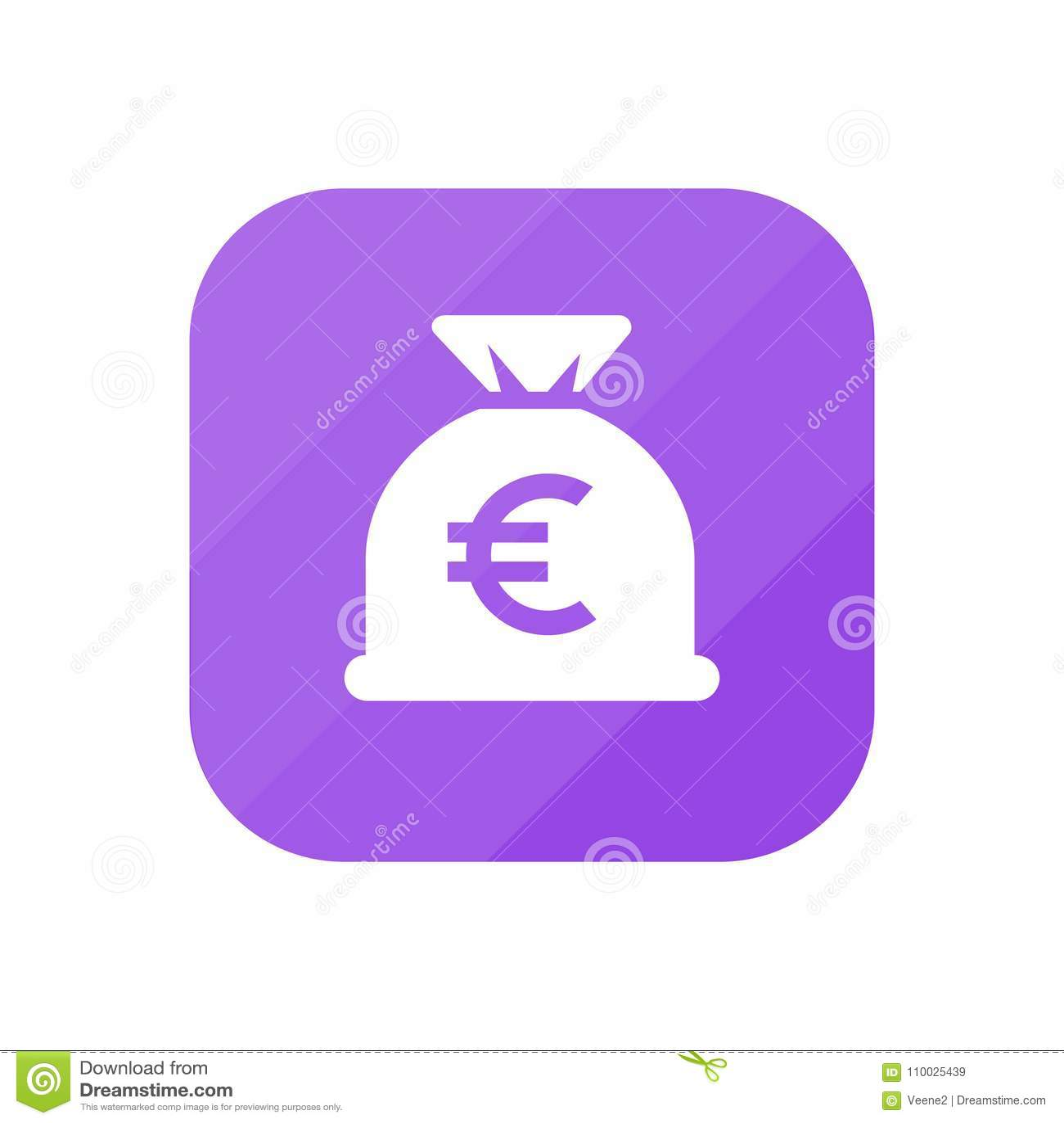 Euro Geldzak - App Pictogram