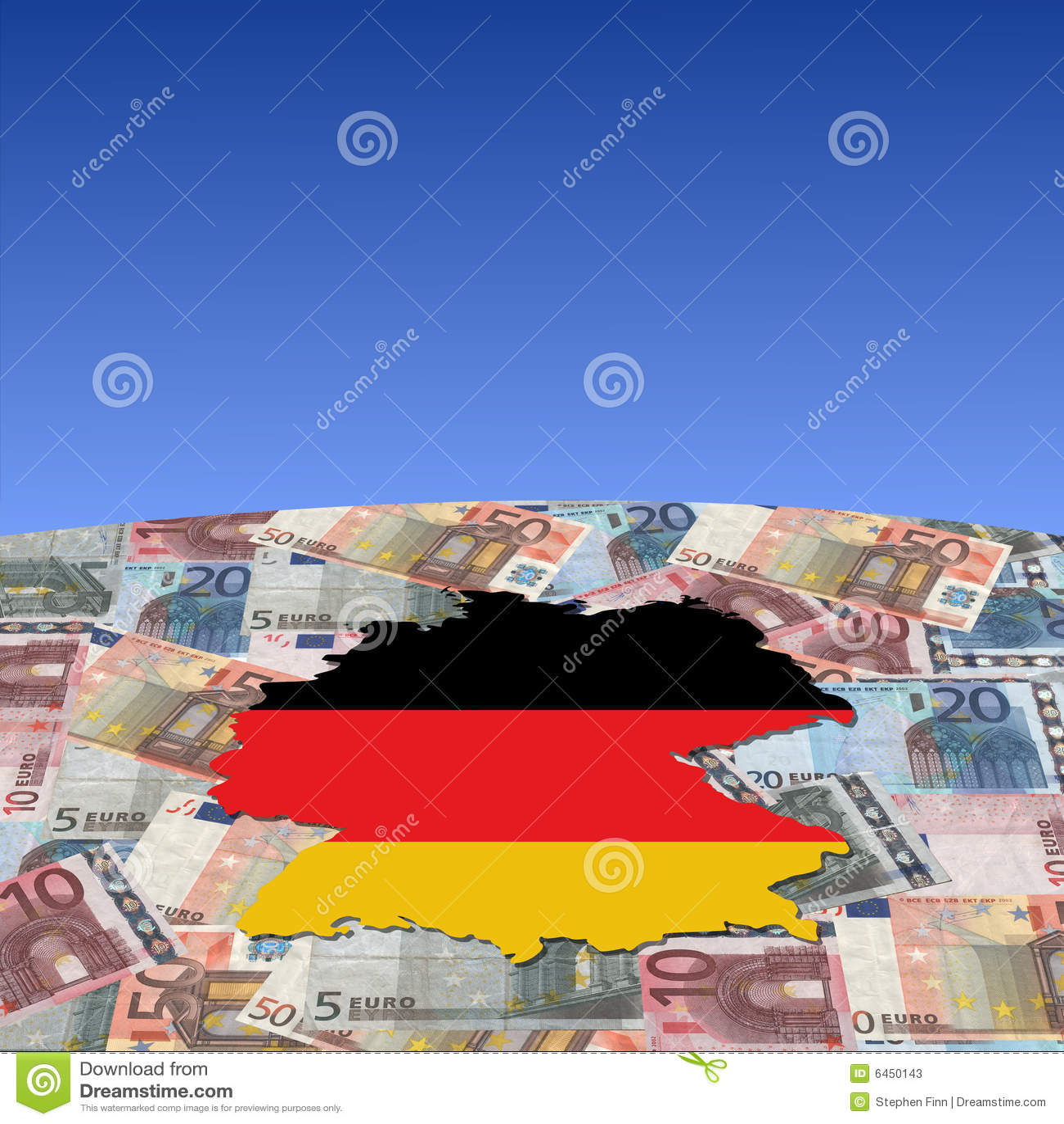 Euro German oznaczone mapę