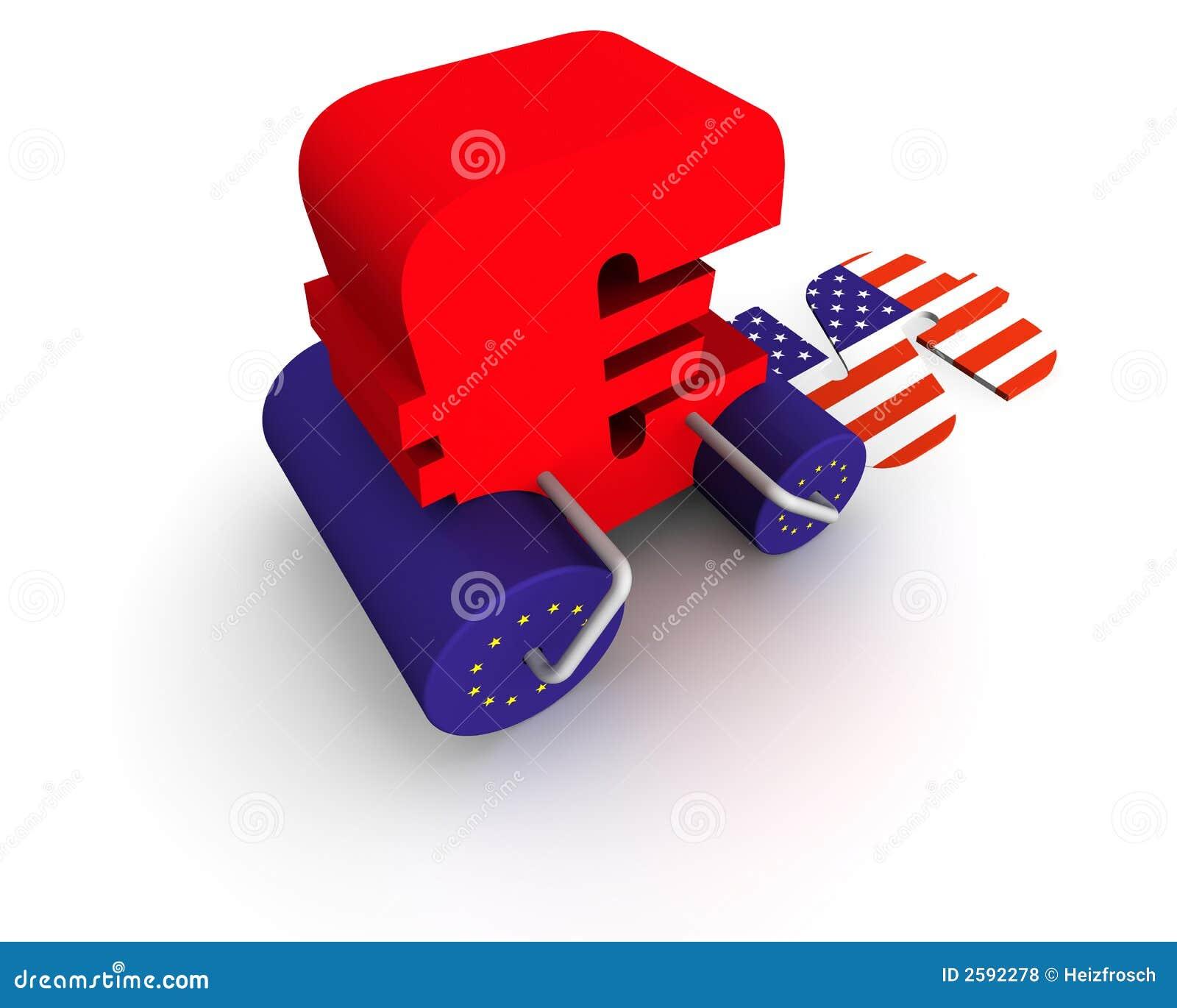 Euro het breken dollar