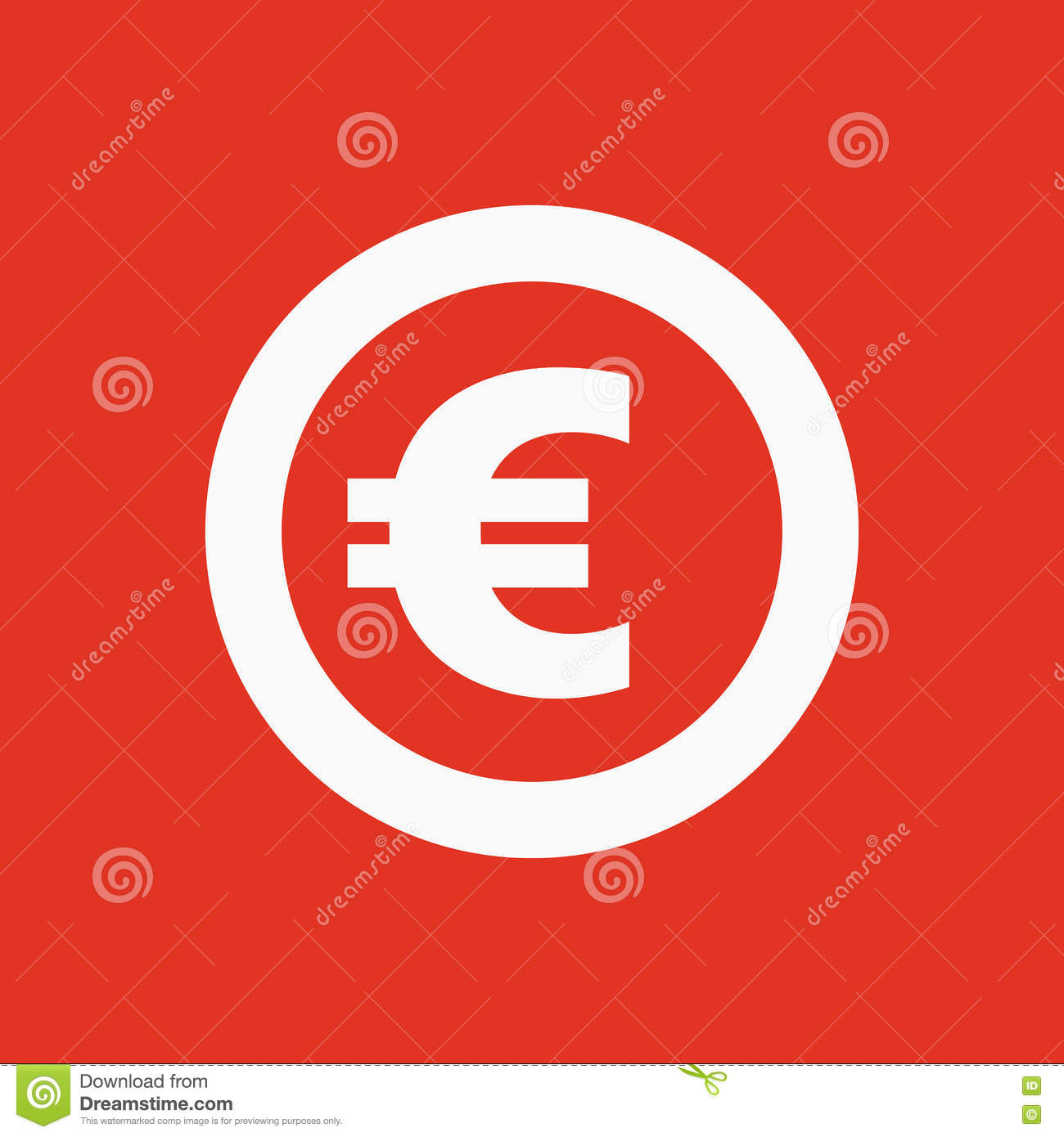 The Euro Icon Cash And Money Wealth Payment Symbol Flat Stock