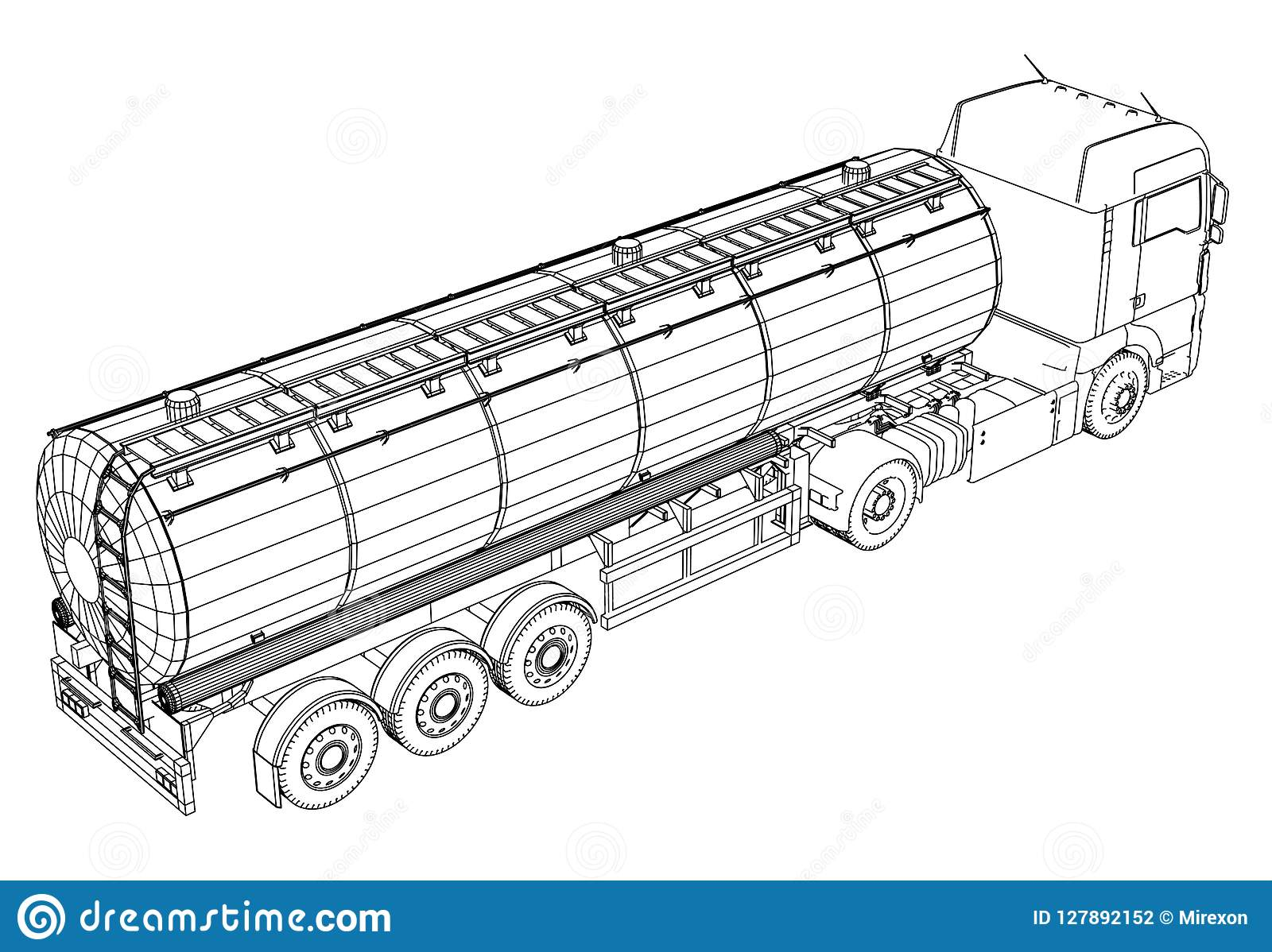 Euro illustrazione della cisterna del camion Vettore Illustrazione di rintracciamento di 3d Formato di vettore di ENV 10