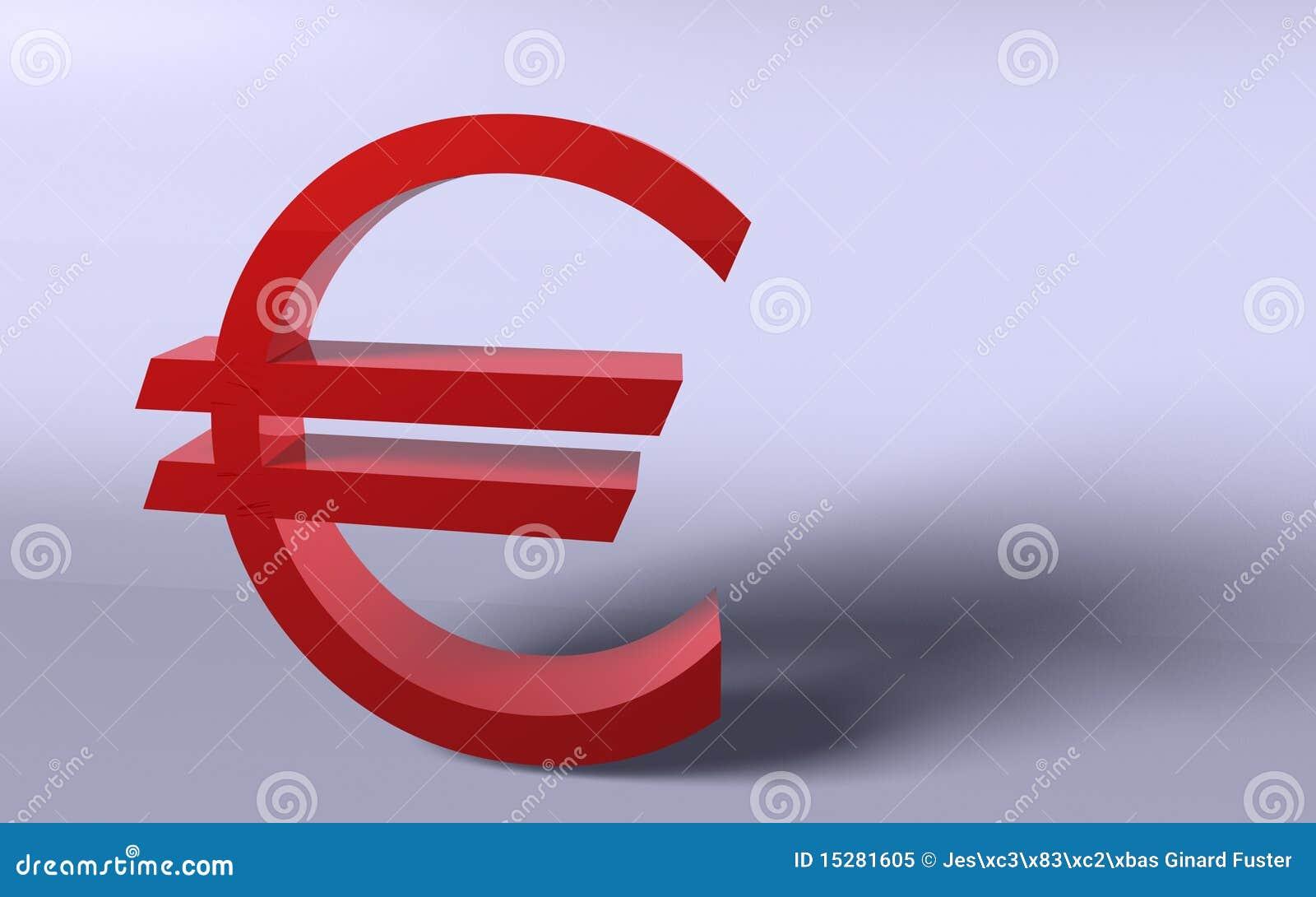 Euro im Rot
