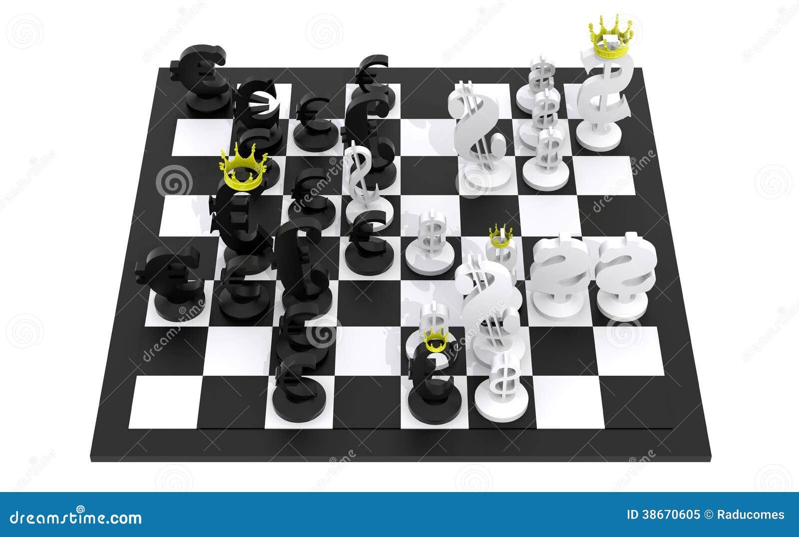 Euro jeu d 39 checs du dollar noir et blanc photo libre de for Jeu d architecture 3d