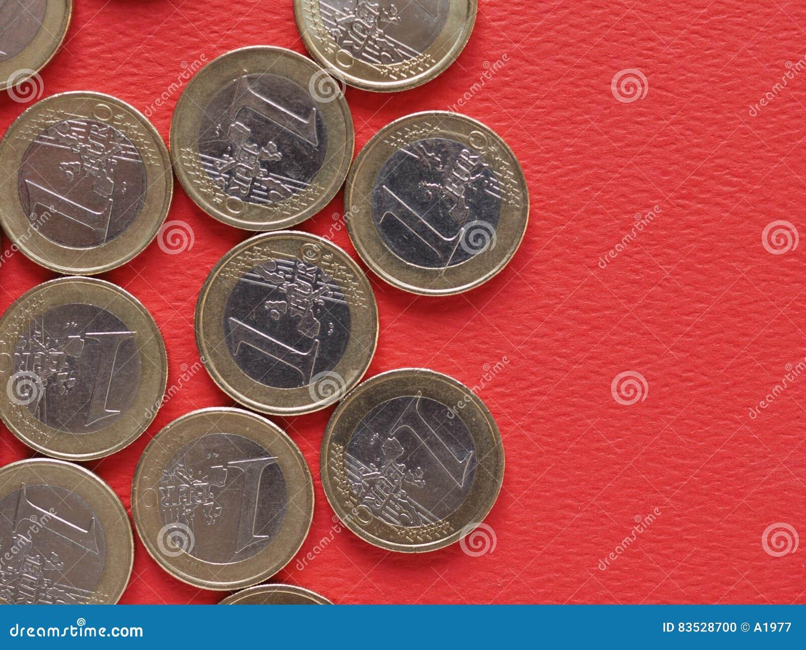 1 Euro Münzen Europäische Gemeinschaft Allgemeine Seite Stockfoto
