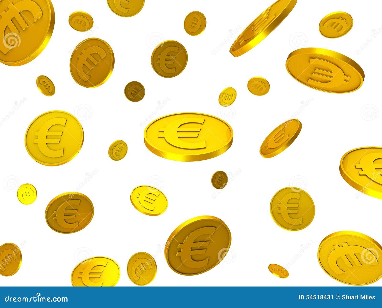 Euro- Münzen zeigt Finanz-Euros And Financing an