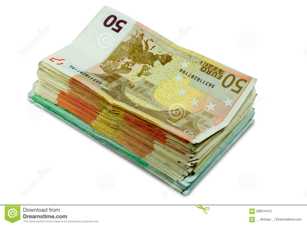 euro money banknotes stacked 50 and 100 euro bills stock image image 66914413. Black Bedroom Furniture Sets. Home Design Ideas