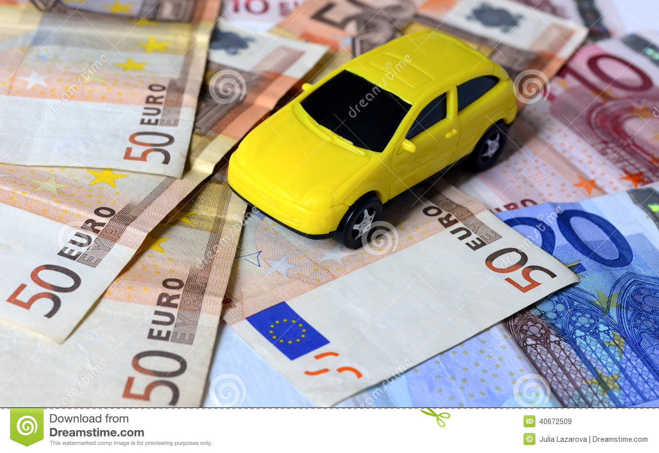 Euro money with car stock image. Image of value, object - 40672509