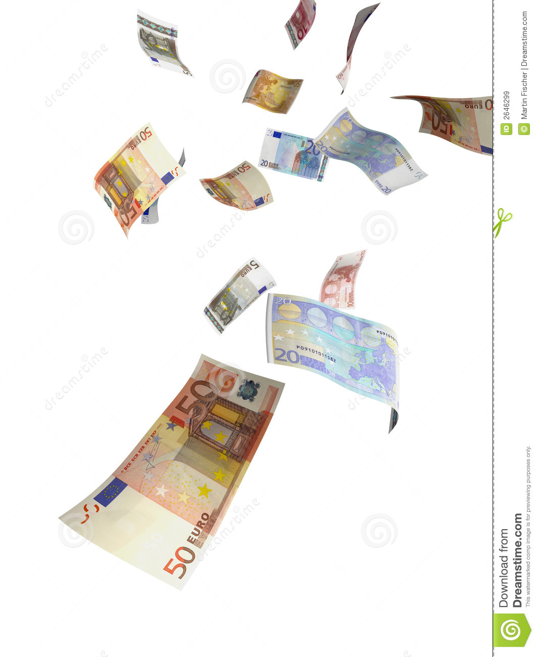 Euro Money Rain Stock Image Image Of Note Currency Funding 2646299
