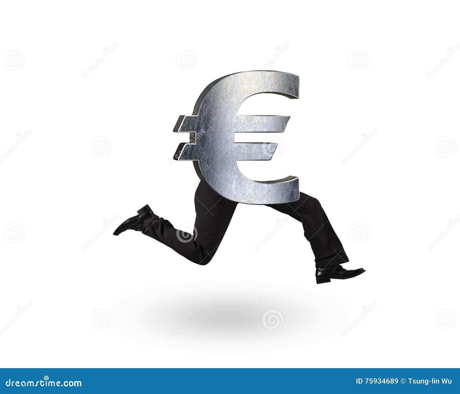 Euro money symbol with human legs running stock image image of euro money symbol with human legs running buycottarizona Gallery