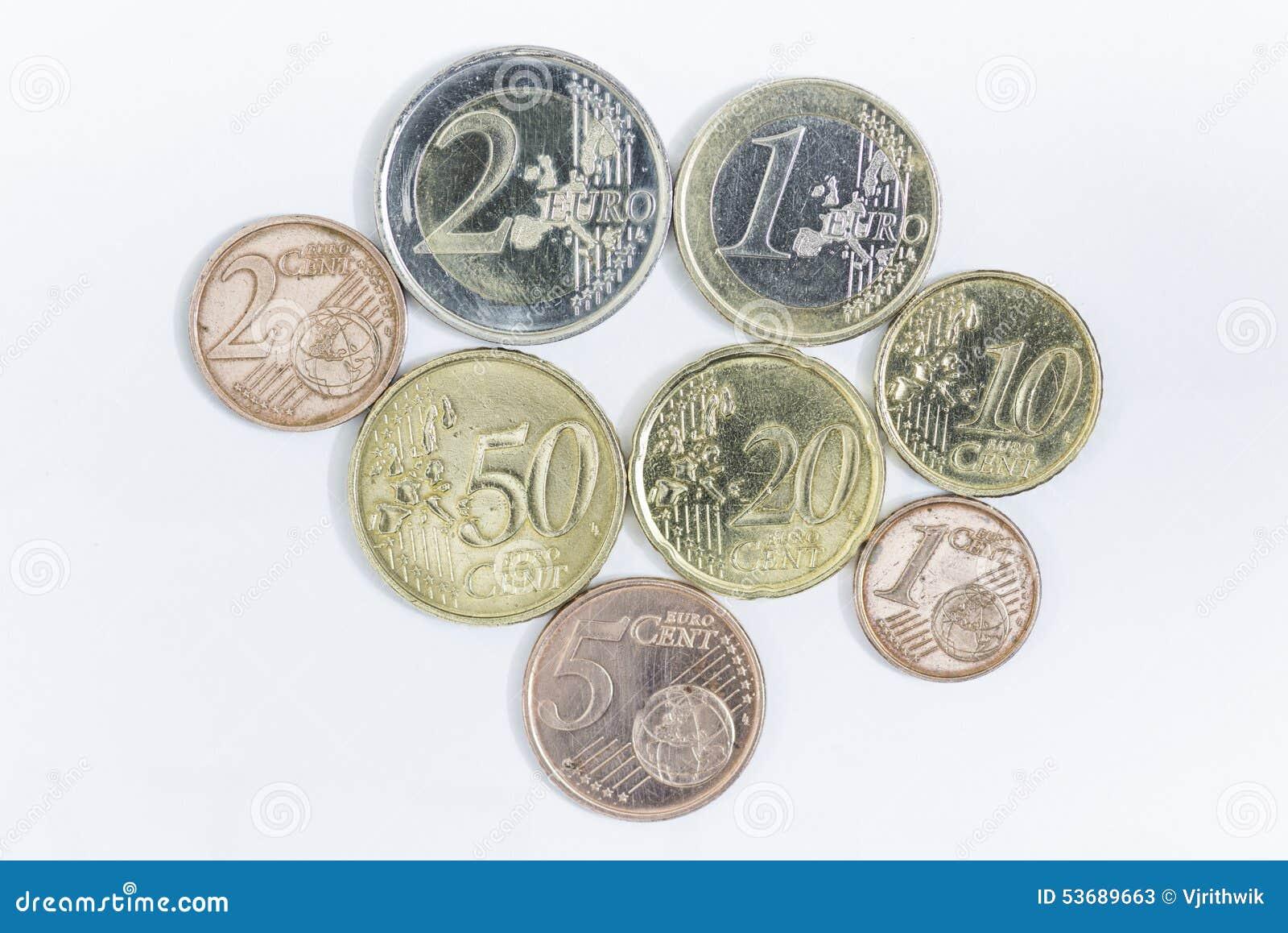 Euro muntstukken en centen