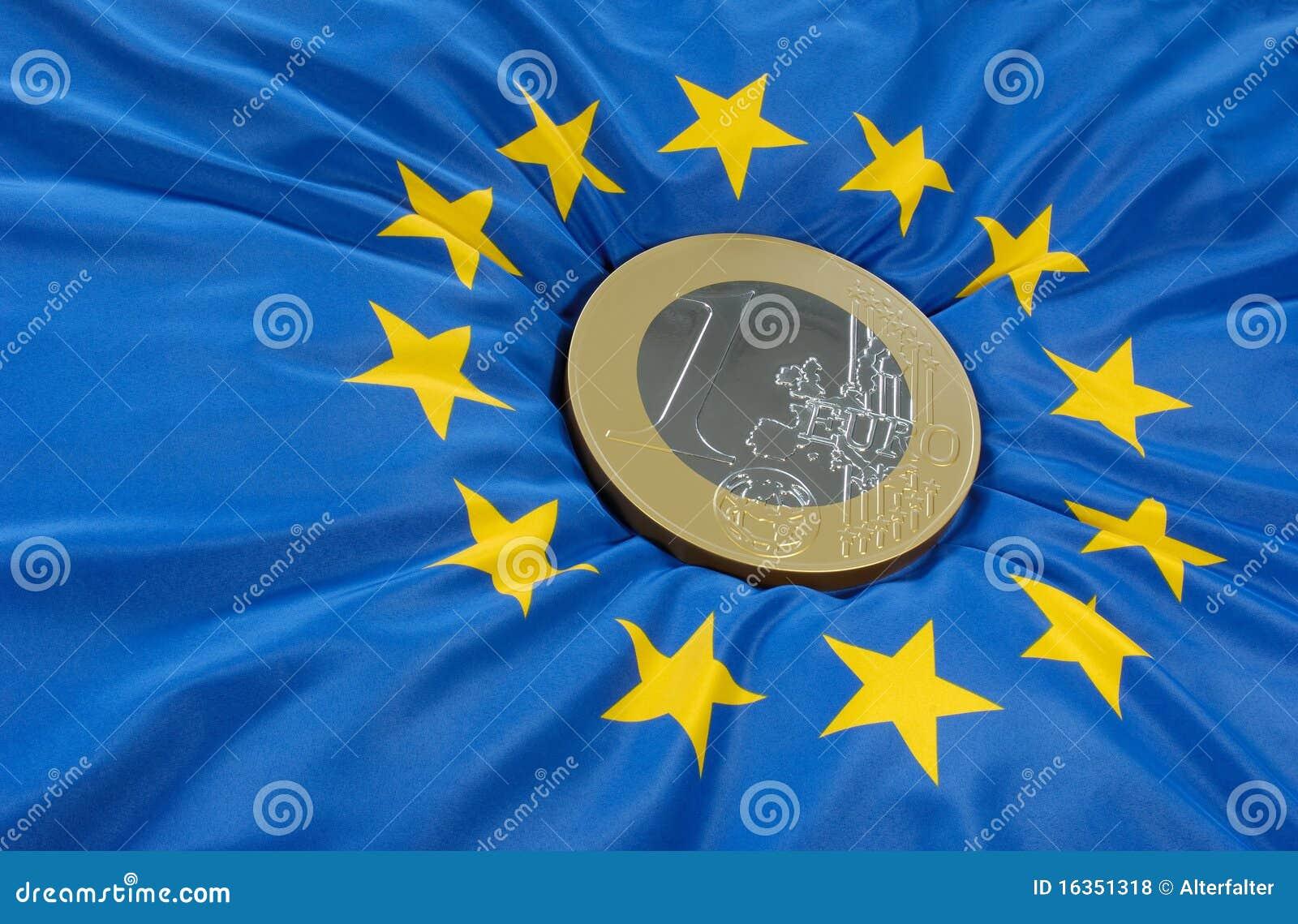 Euro na bandeira