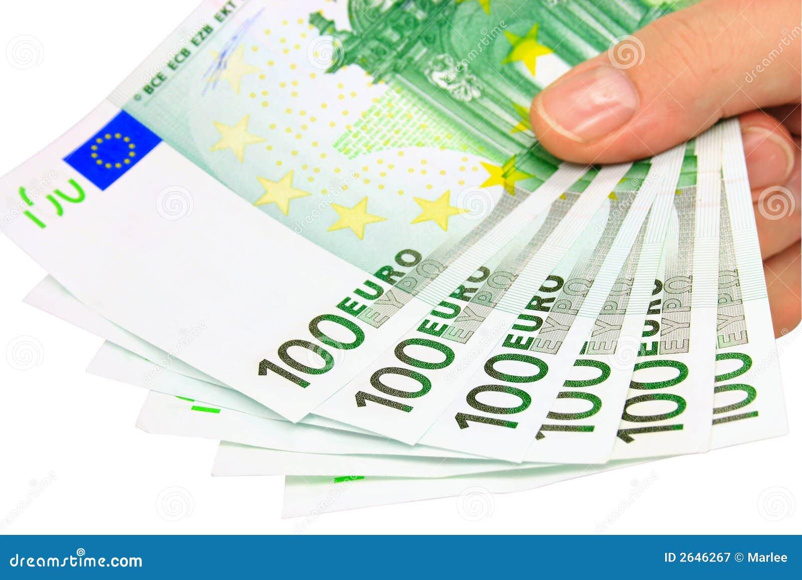 Euro nota s (het knippen weg)