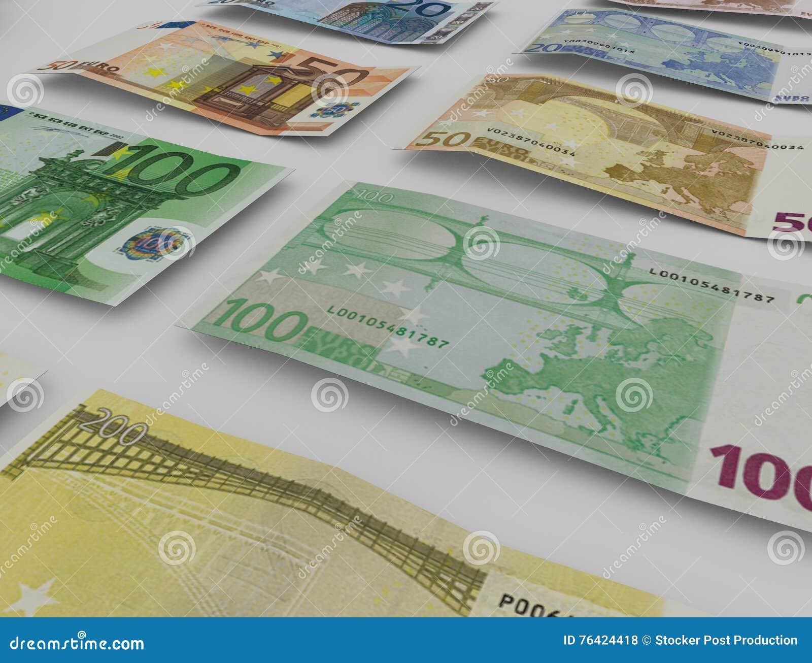 Euro nota s met bezinning