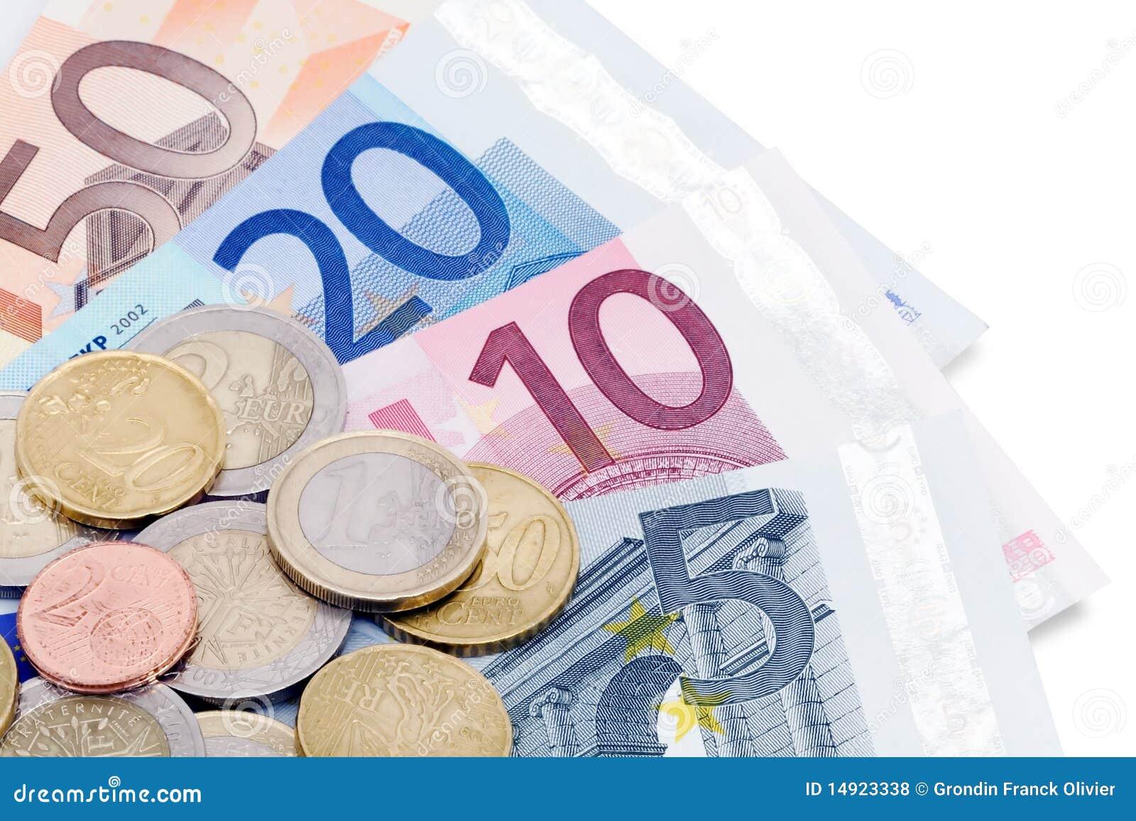 Euro- notas e moedas