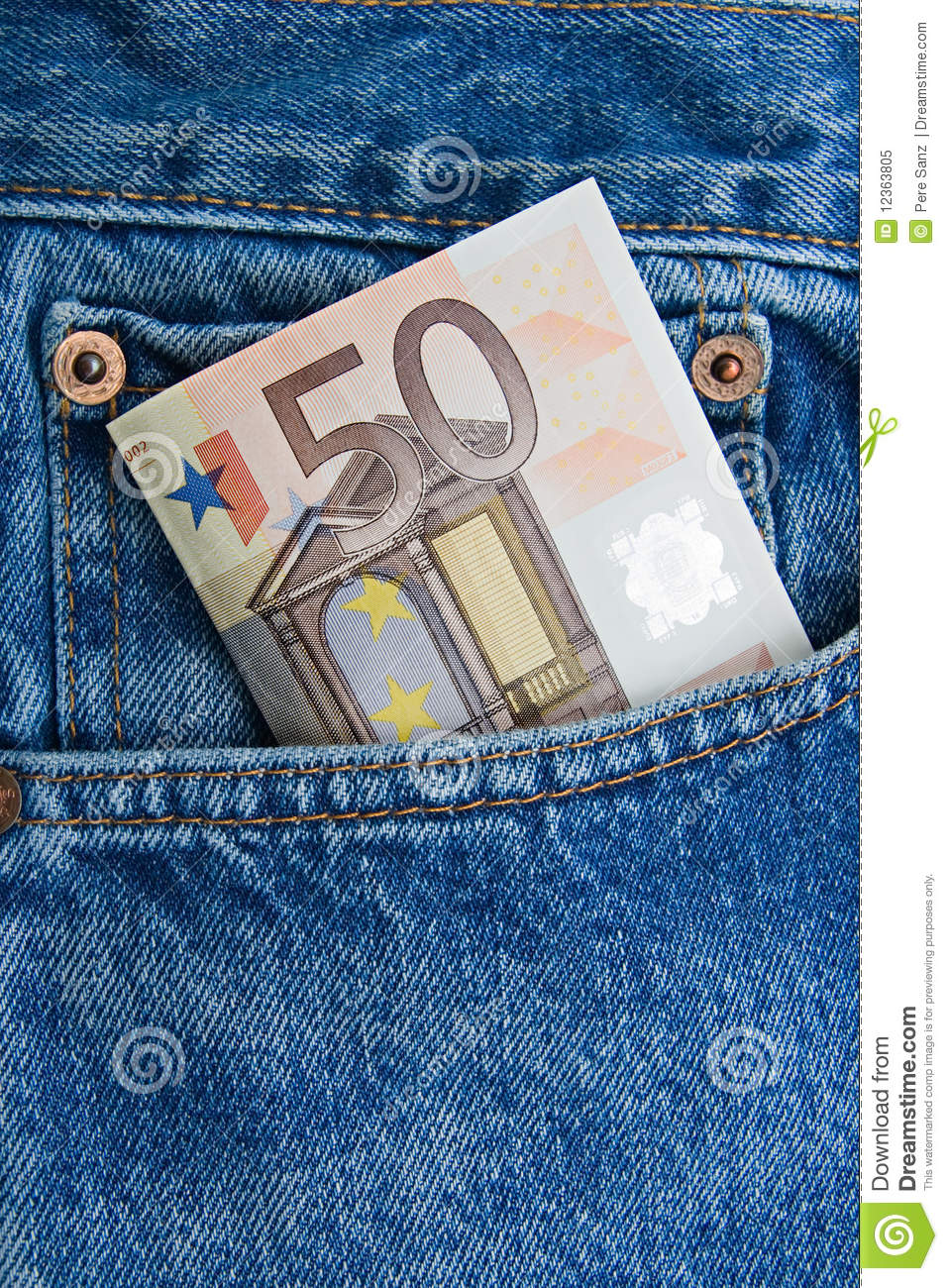 euro note in a blue jeans pocket royalty free stock photo image 12363805. Black Bedroom Furniture Sets. Home Design Ideas