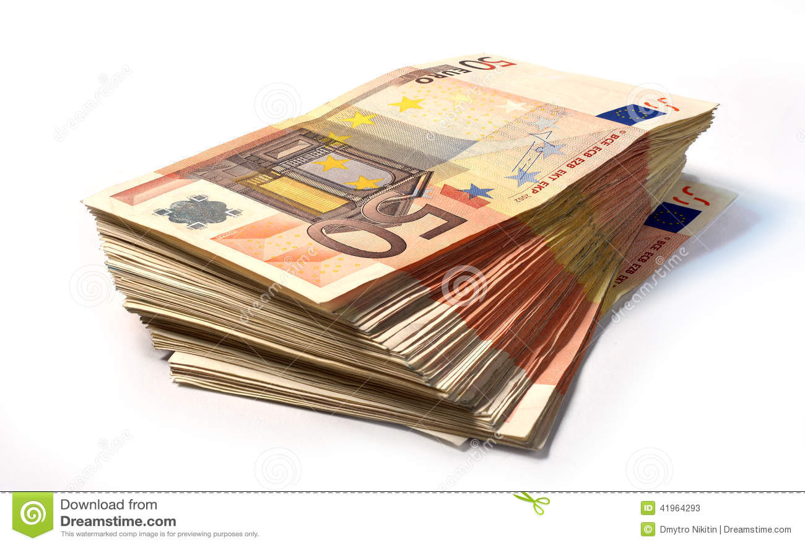 50 euro notes stock photo image 41964293. Black Bedroom Furniture Sets. Home Design Ideas