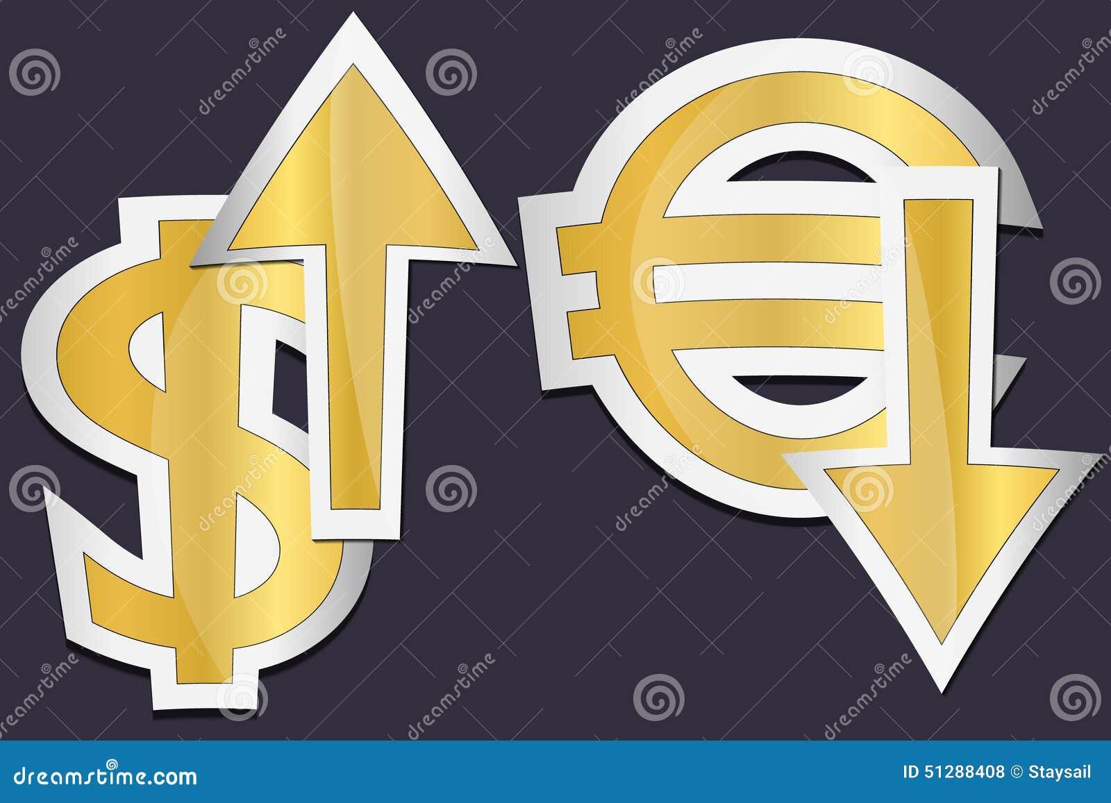 Euro och dolar