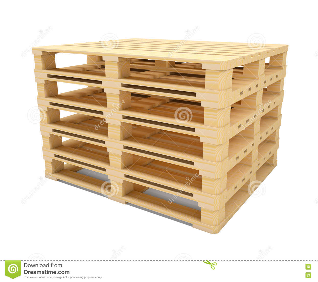 wooden shipping pallet in standard dimensions royalty free stock photography cartoondealer. Black Bedroom Furniture Sets. Home Design Ideas