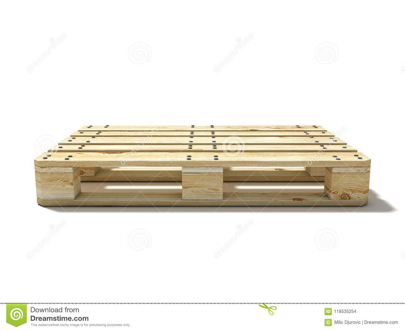 Euro Pallet Side View 3d Stock Illustration Illustration Of Clear 118535254