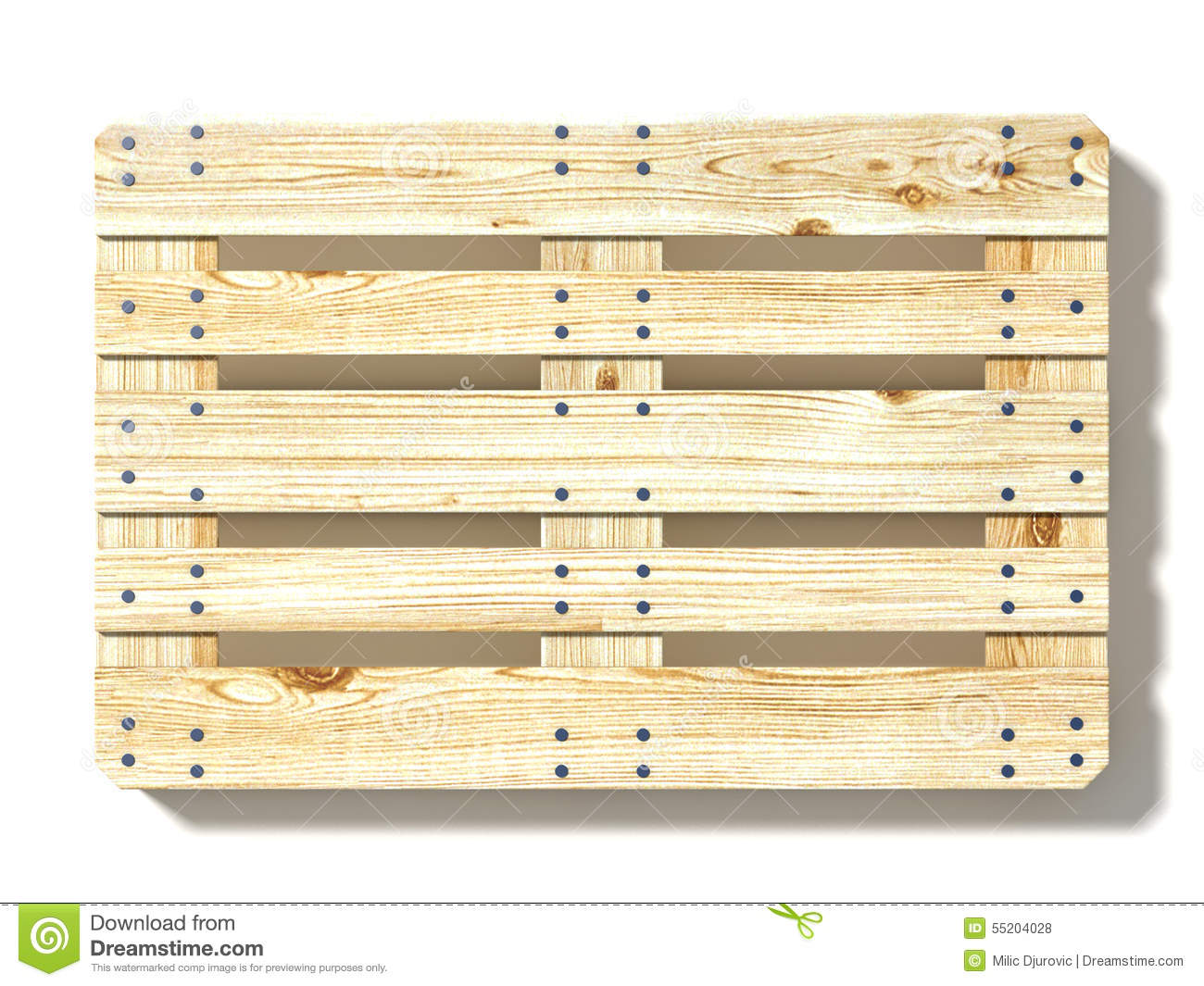 Euro Pallet. Top View Stock Illustration - Image: 55204028