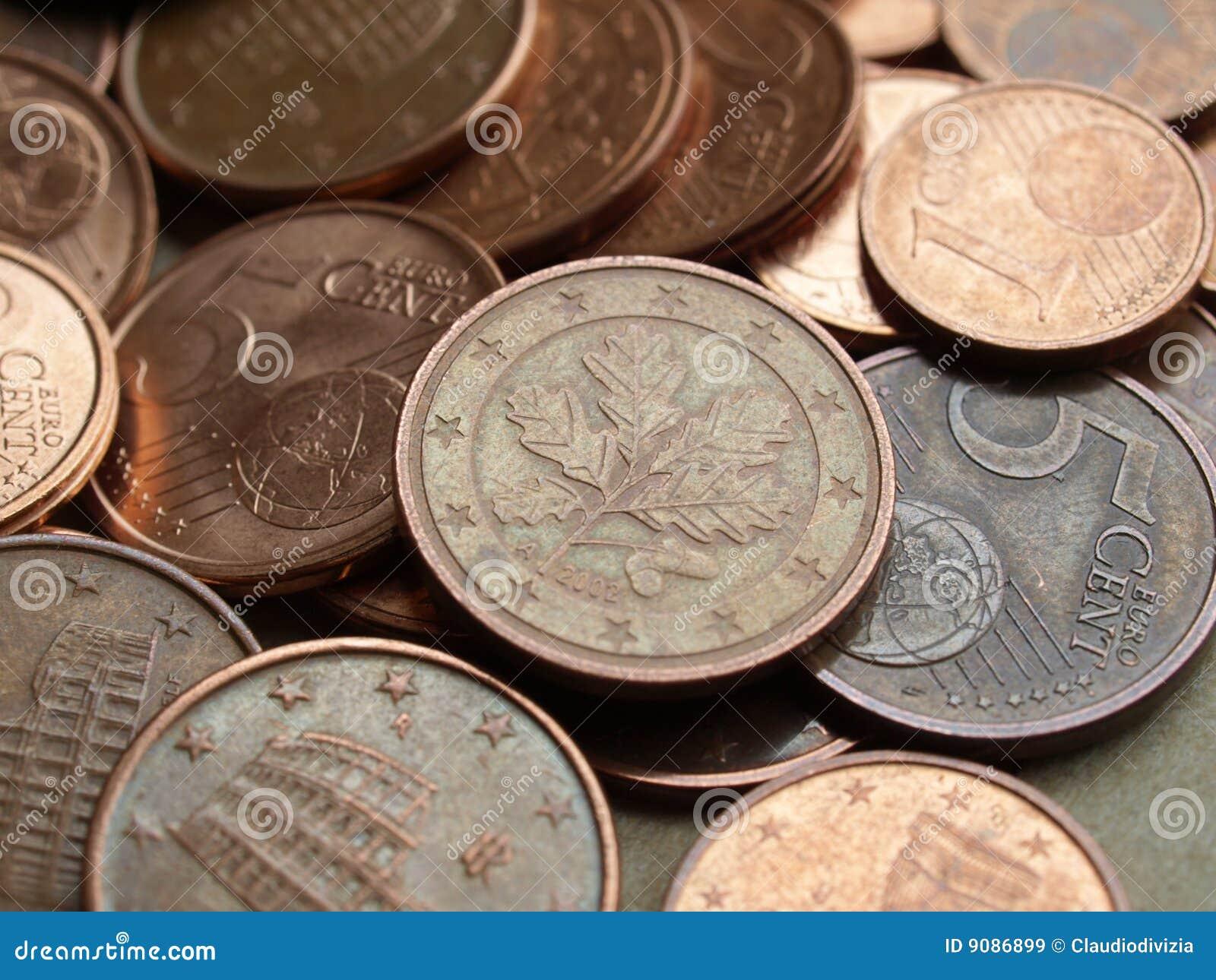 Euro prägt Hintergrund