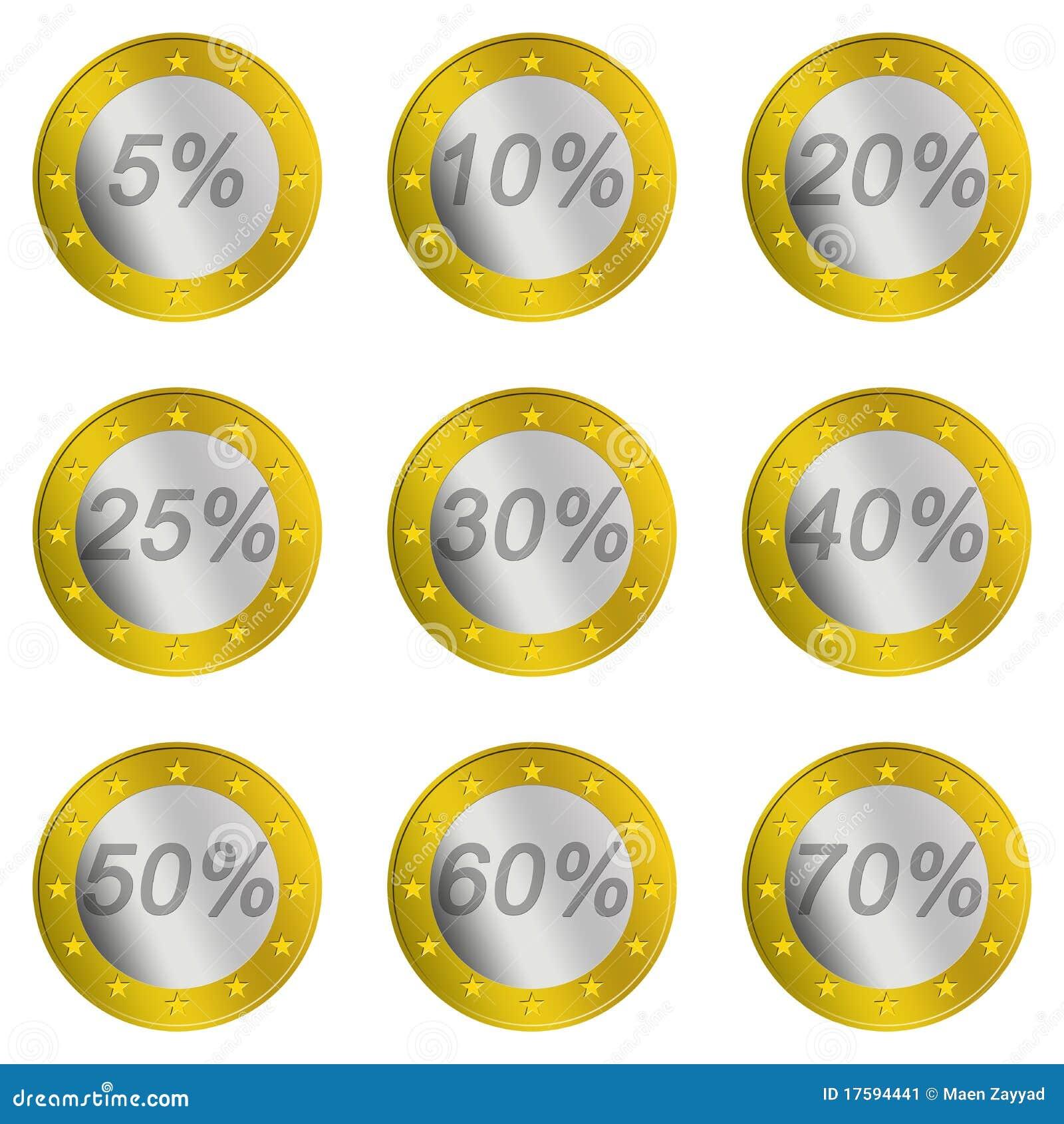 Euro price discount stock illustration illustration of coin euro price discount biocorpaavc