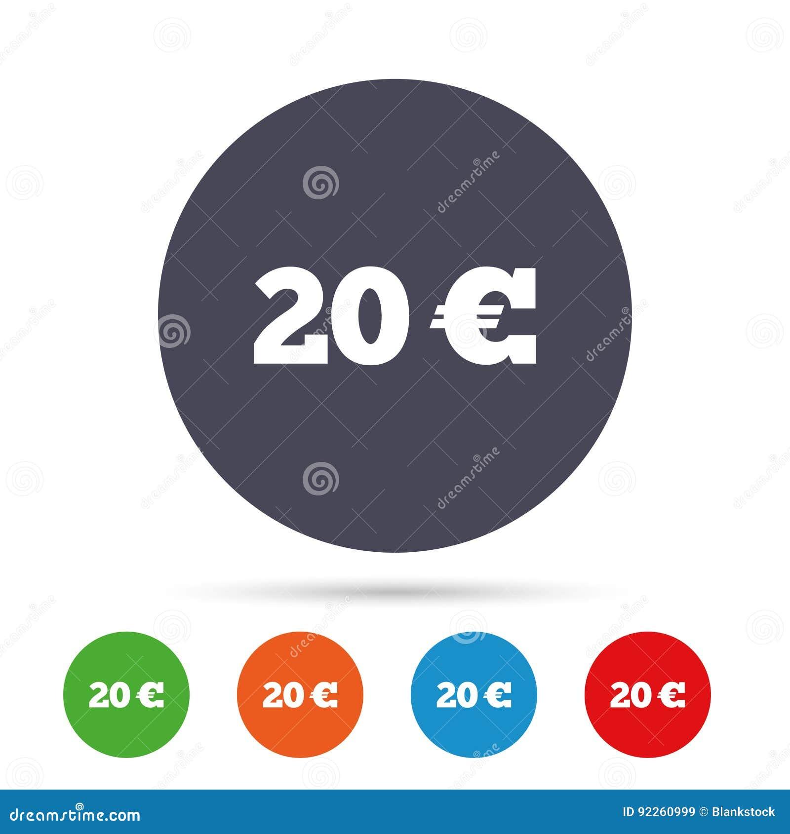 20 euro sign icon eur currency symbol stock vector illustration 20 euro sign icon eur currency symbol buycottarizona Choice Image