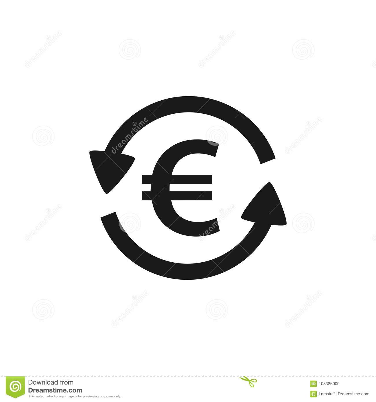 Euro Symbol Exchange Concept Stock Vector Illustration Of