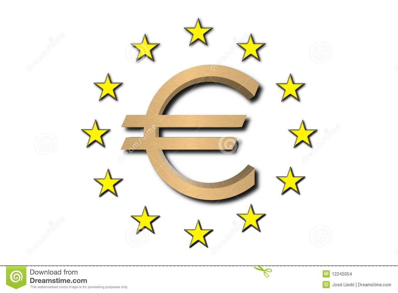Euro Symbol Golden Stock Illustration Illustration Of Celebrations