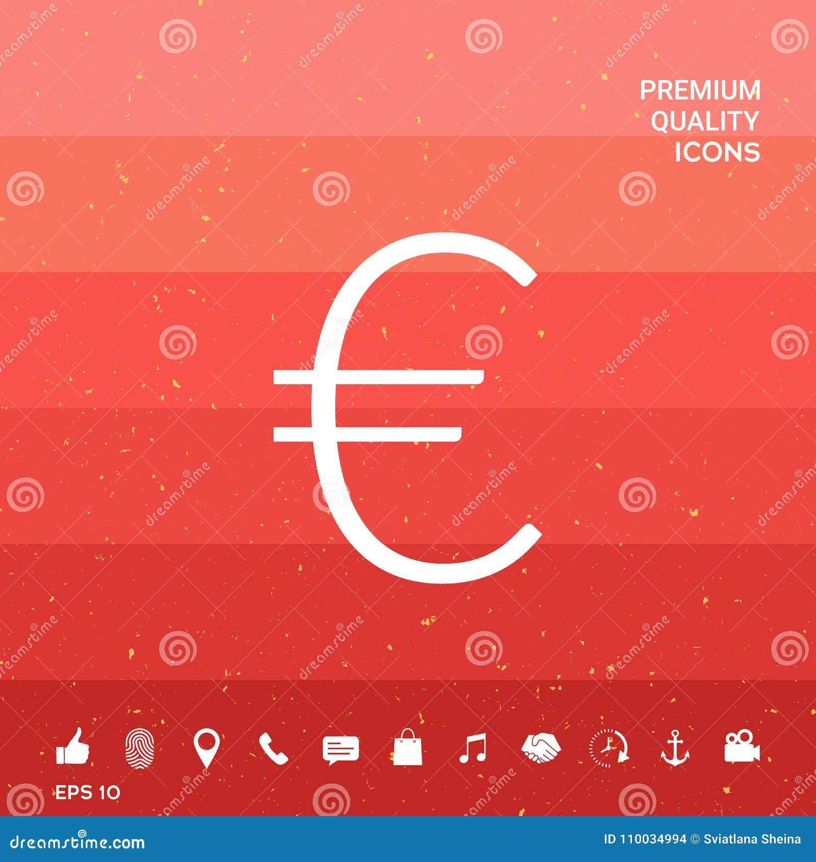 Euro symboolpictogram